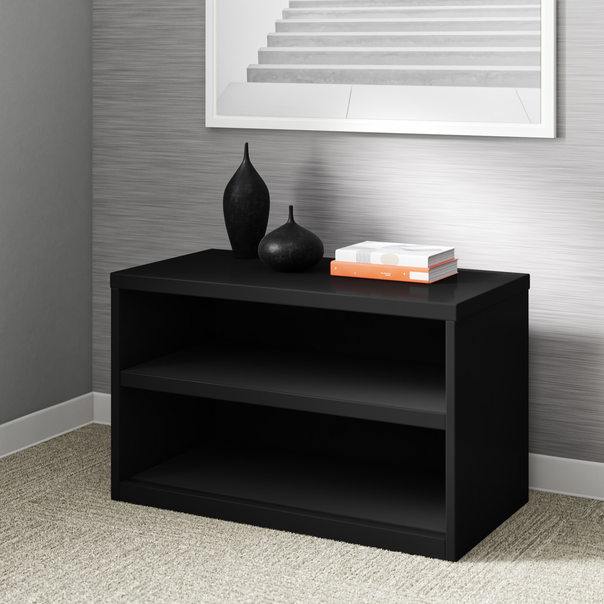 Akimitsu Barrel Chair And Ottoman Sets Pertaining To Widely Used Black Credenza Office Storage Cabinets You'll Love In  (View 20 of 20)