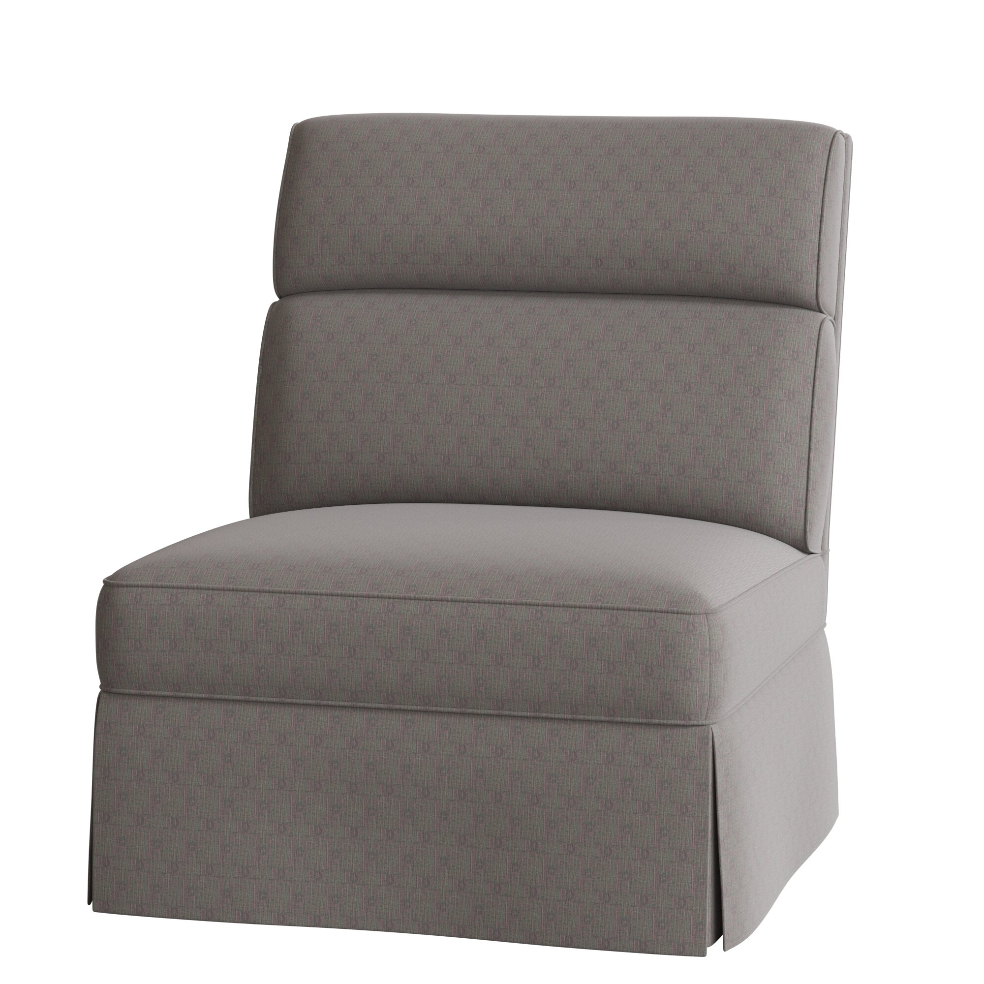 Alexander Cotton Blend Armchairs And Ottoman Within Well Known Nia Slipper Chair (View 16 of 20)