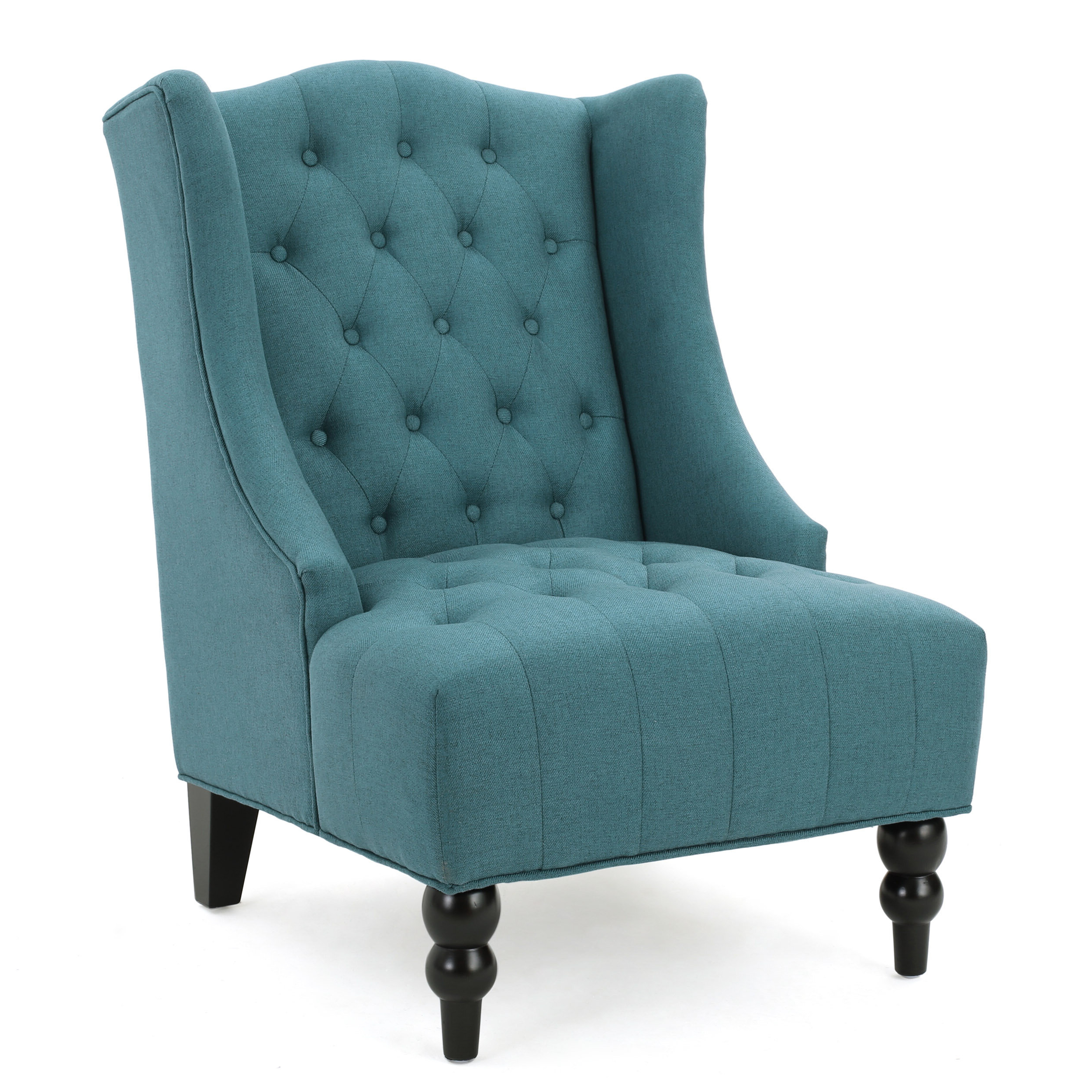 """Allis Tufted Polyester Blend Wingback Chairs Throughout Well Known Contreras 21"""" Side Chair (View 10 of 20)"""