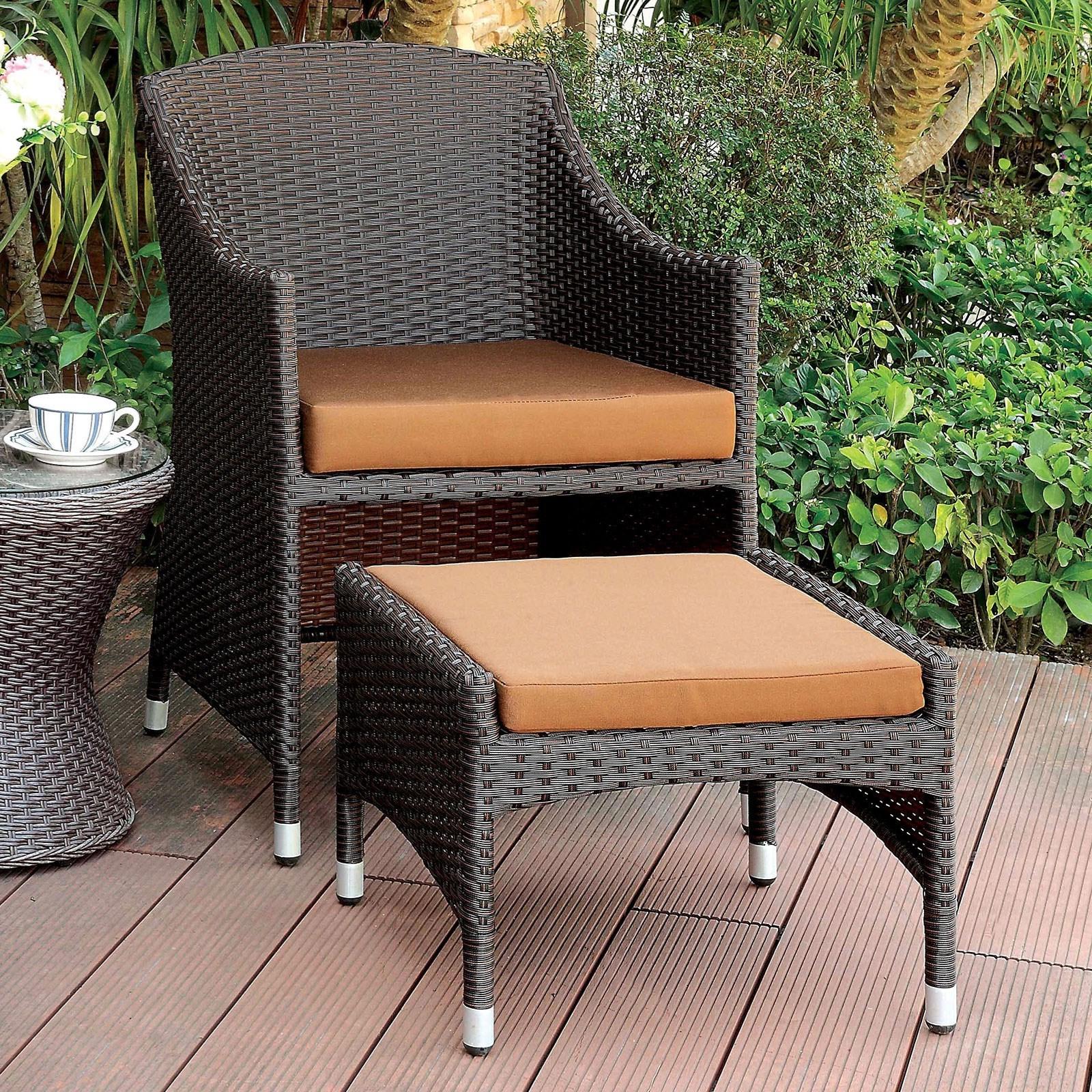 Almada Armchairs For 2020 Almada Outdoor Arm Chair + Ottoman (View 6 of 20)