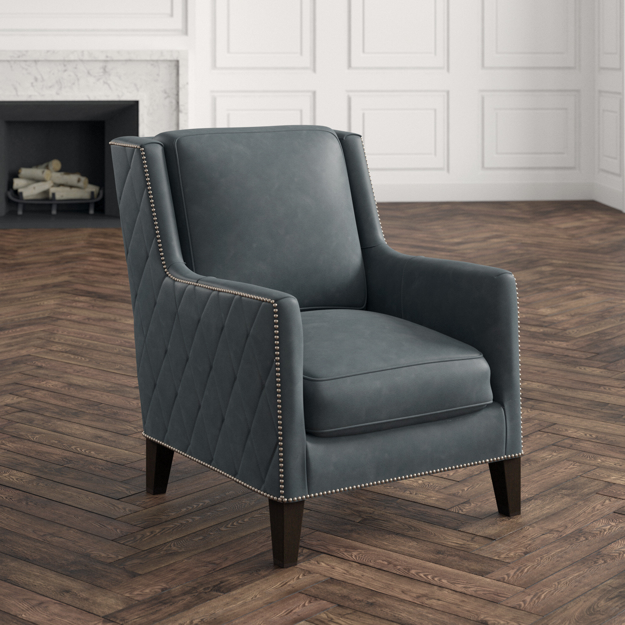 """Almada Armchairs Intended For Most Popular 30"""" W Top Grain Leather Armchair (View 11 of 20)"""