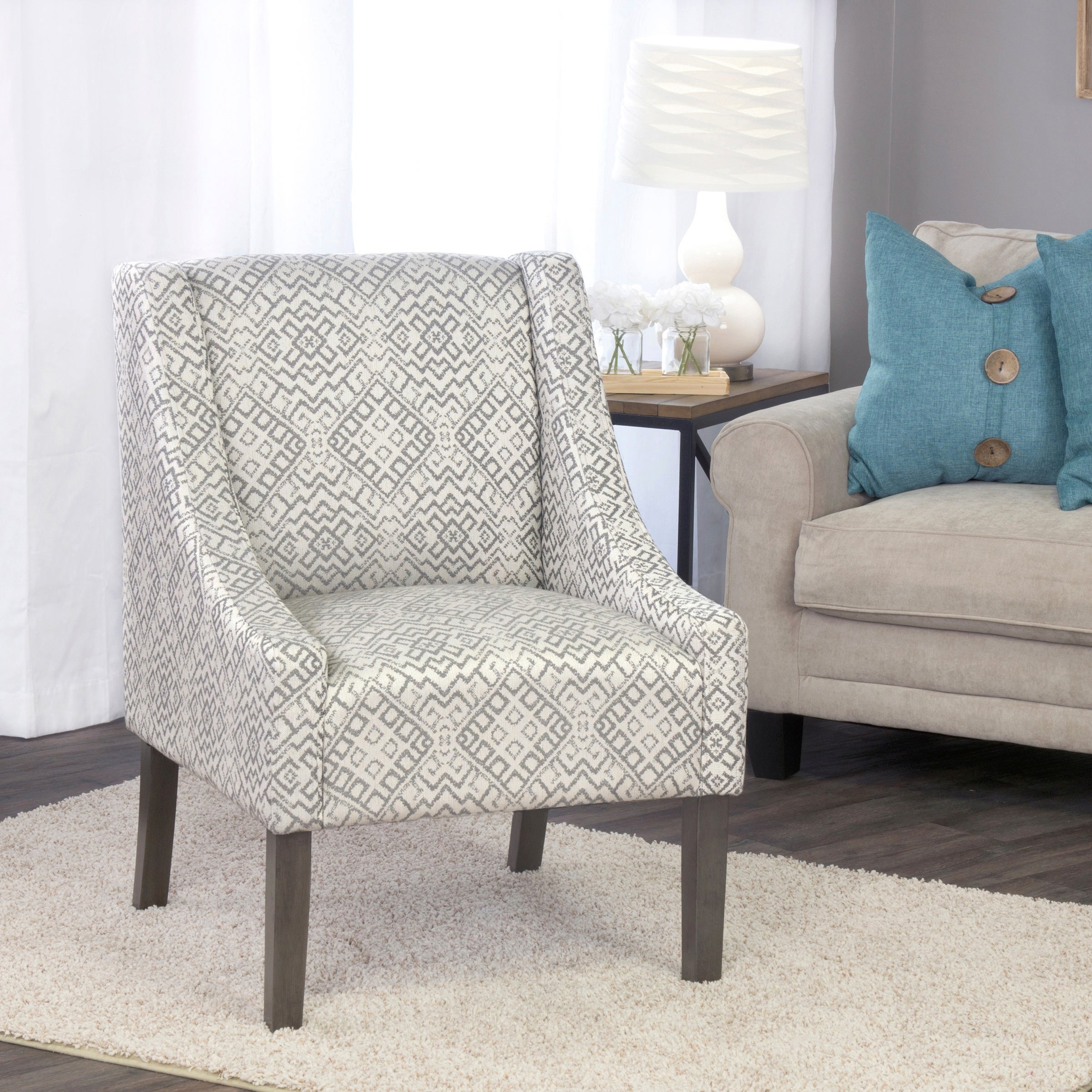 Altamahaw Swoop Side Chairs With Favorite Homepop Swoop Accent Chair In Tonal Gray (View 7 of 20)