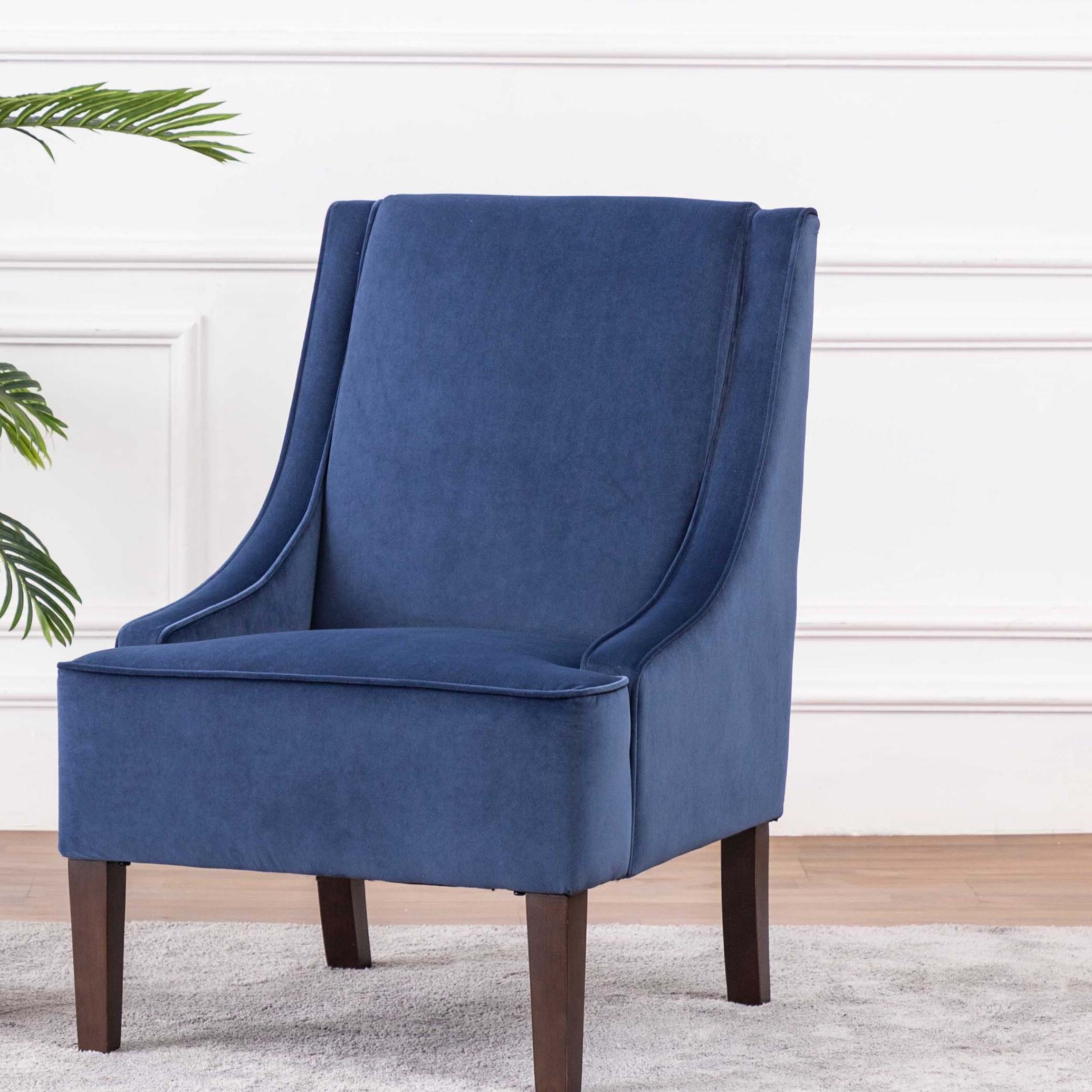 Altamahaw Swoop Side Chairs With Regard To Popular Navy & Purple Accent Chairs You'll Love In (View 12 of 20)