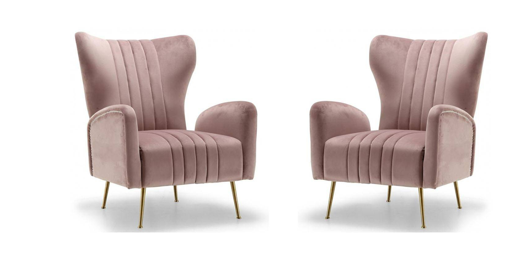 Alush Accent Slipper Chairs (set Of 2) Intended For Current Accent Chairs Set Of (View 12 of 20)