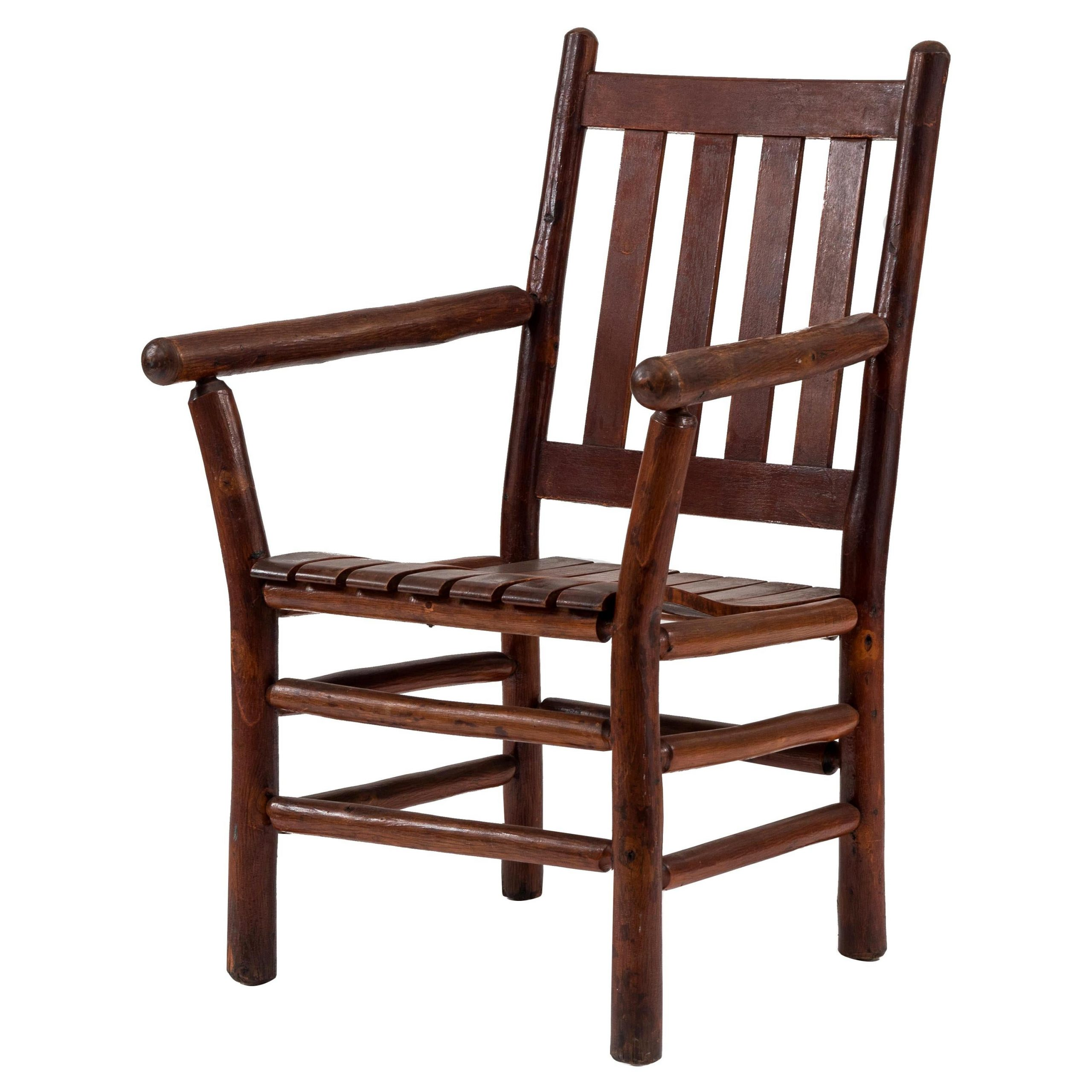 American Rustic Armchaircolumbus Hickory Furniture Co (View 11 of 20)