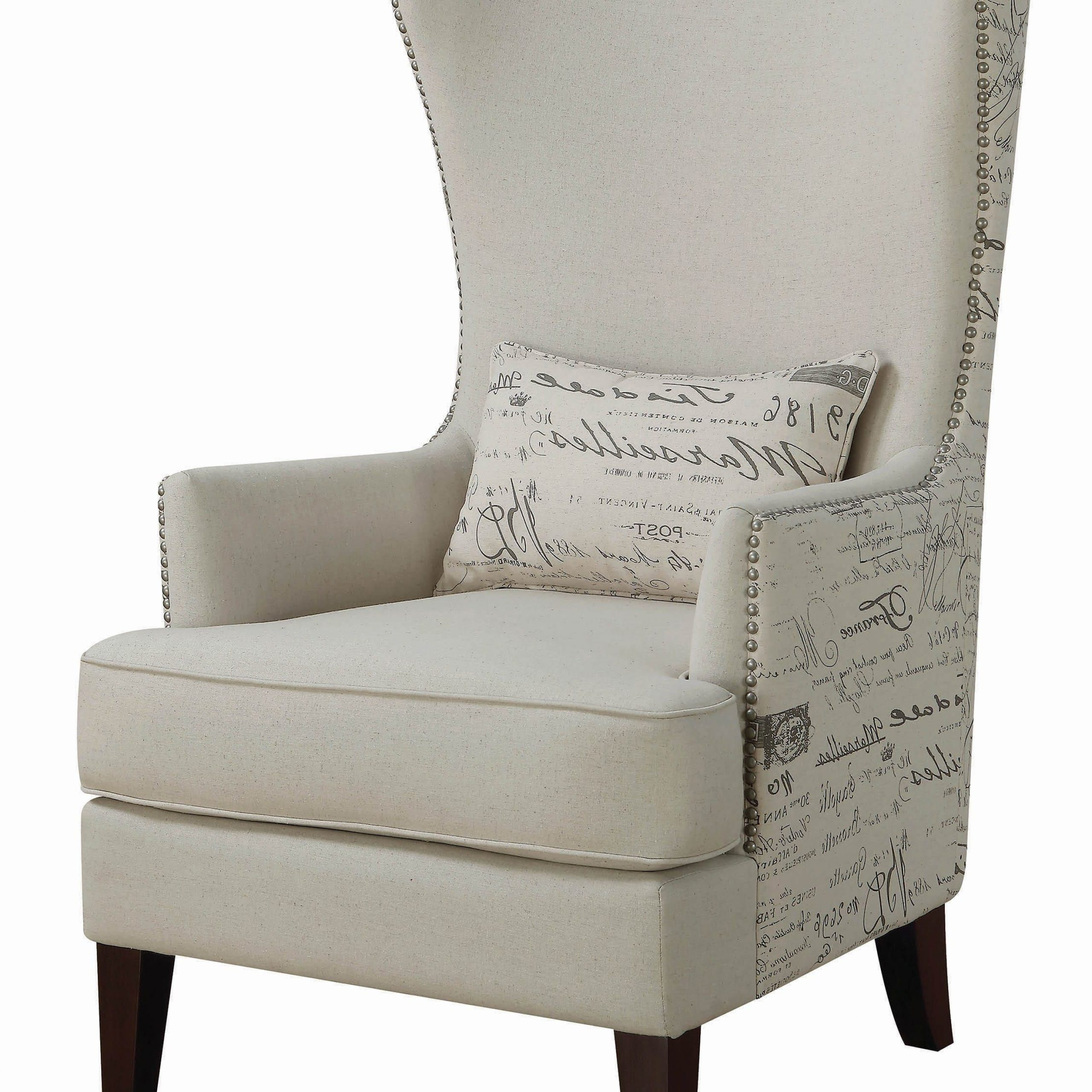 Andover Wingback Chairs With Latest Traditional Cream Accent Chair – Coaster Fine Furniture (View 8 of 20)