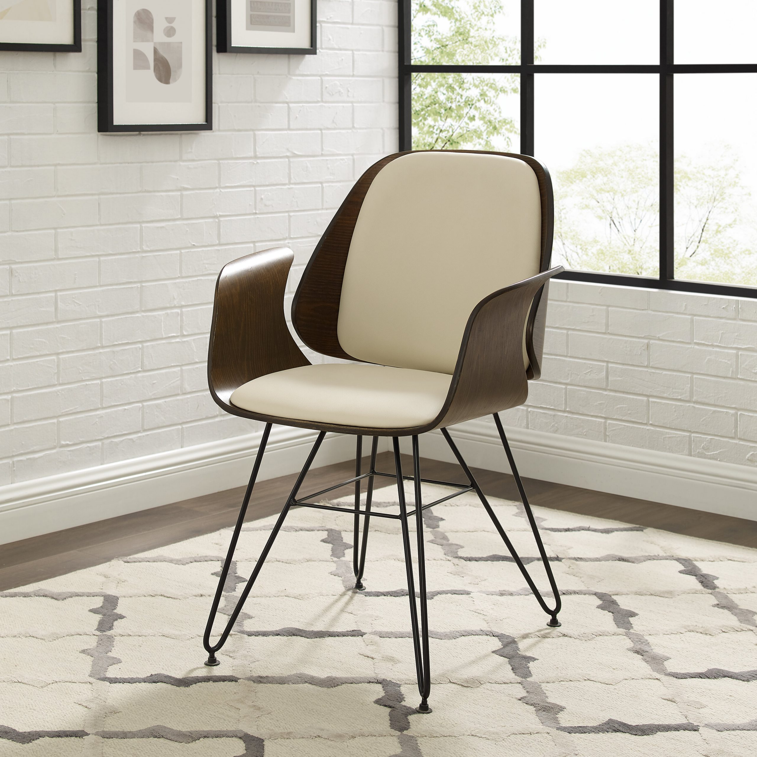 Ansar Faux Leather Barrel Chairs Regarding Trendy Faux Leather Accent Chairs Under $150 You'll Love In (View 14 of 20)