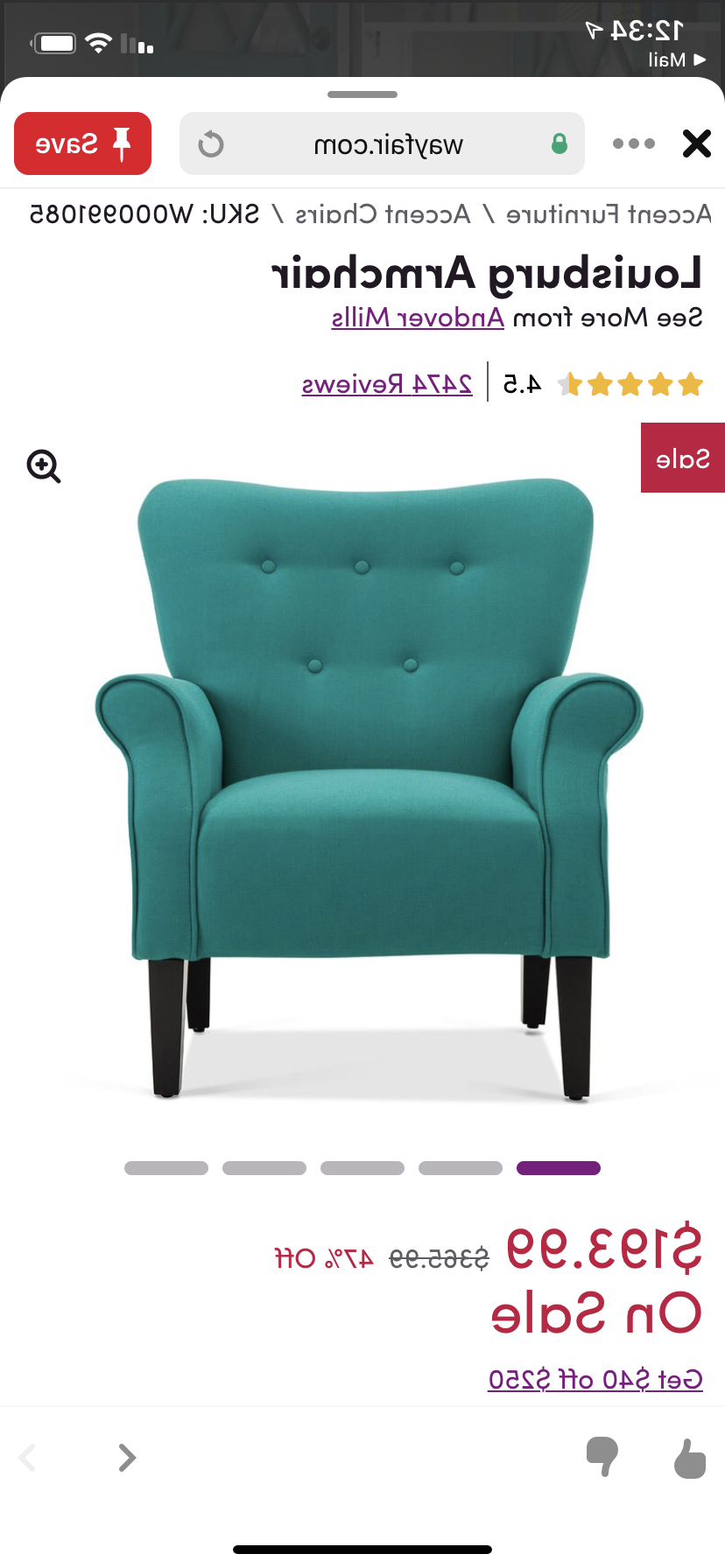 Armchair, Accent Intended For Louisburg Armchairs (View 9 of 20)