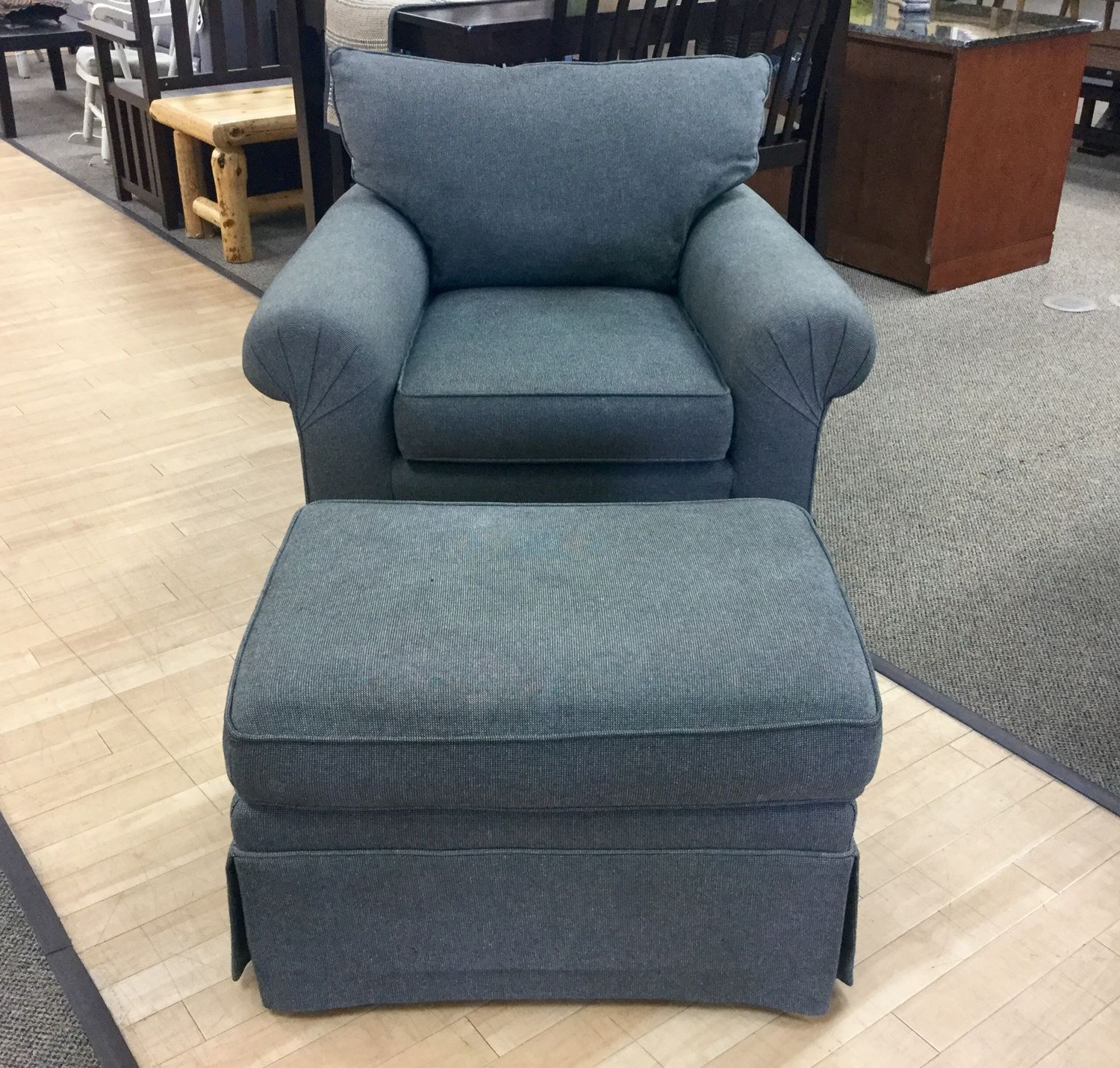 Armchair And Ottoman Set For Famous Michalak Cheswood Armchairs And Ottoman (View 8 of 20)