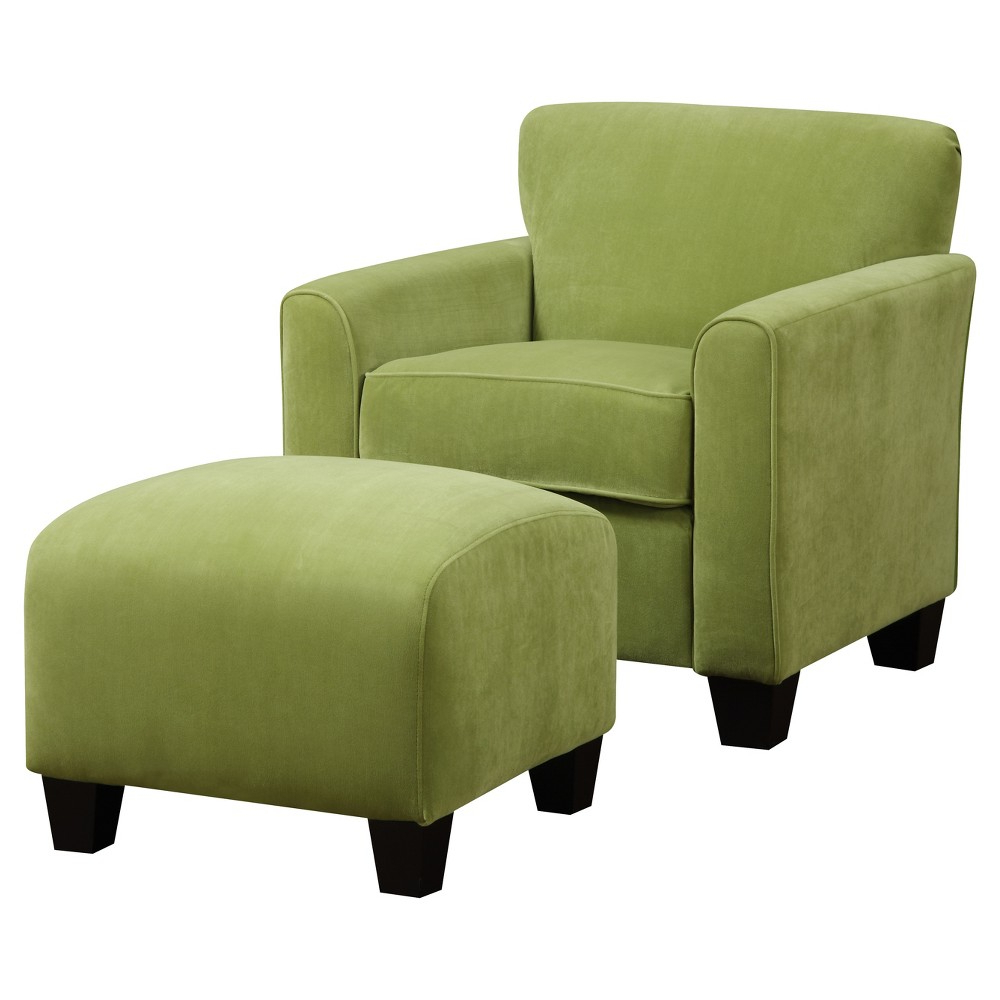 Armchair With Ottoman With Regard To Popular Michalak Cheswood Armchairs And Ottoman (View 18 of 20)