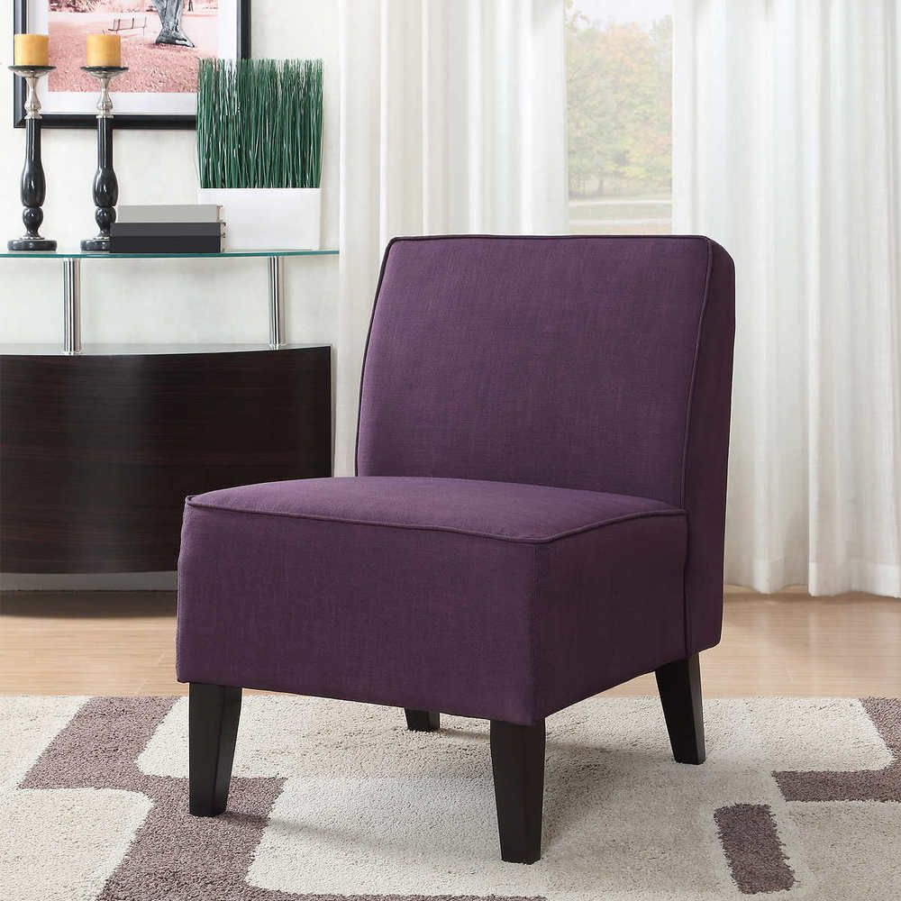 Armless Slipper Chair Soft Comfy Cushion Solid Wood Legs Pertaining To Widely Used Wadhurst Slipper Chairs (View 9 of 20)