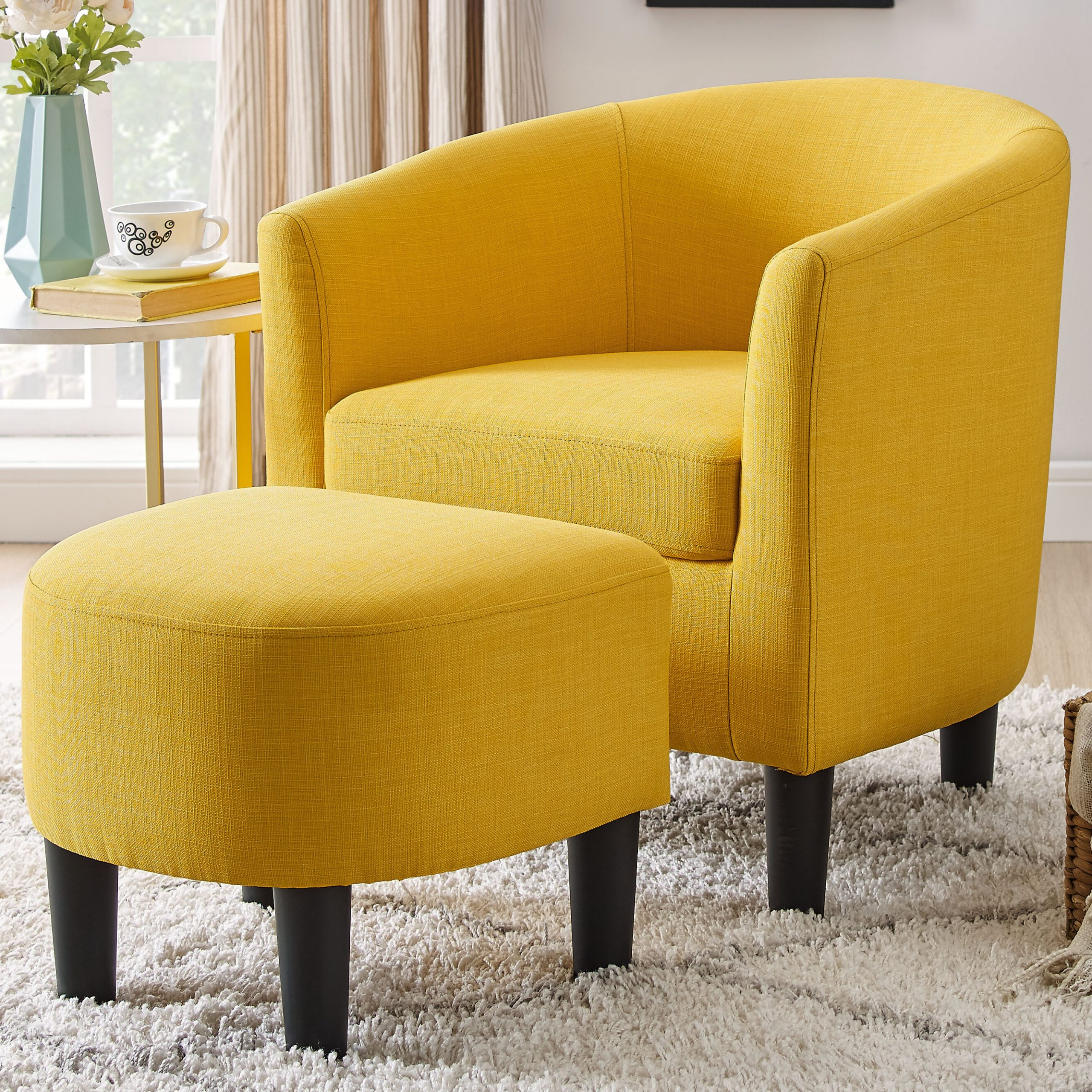 Artemi Barrel Chair And Ottoman Sets Pertaining To Well Known Orange & Yellow Accent Chairs You'll Love In (View 4 of 20)