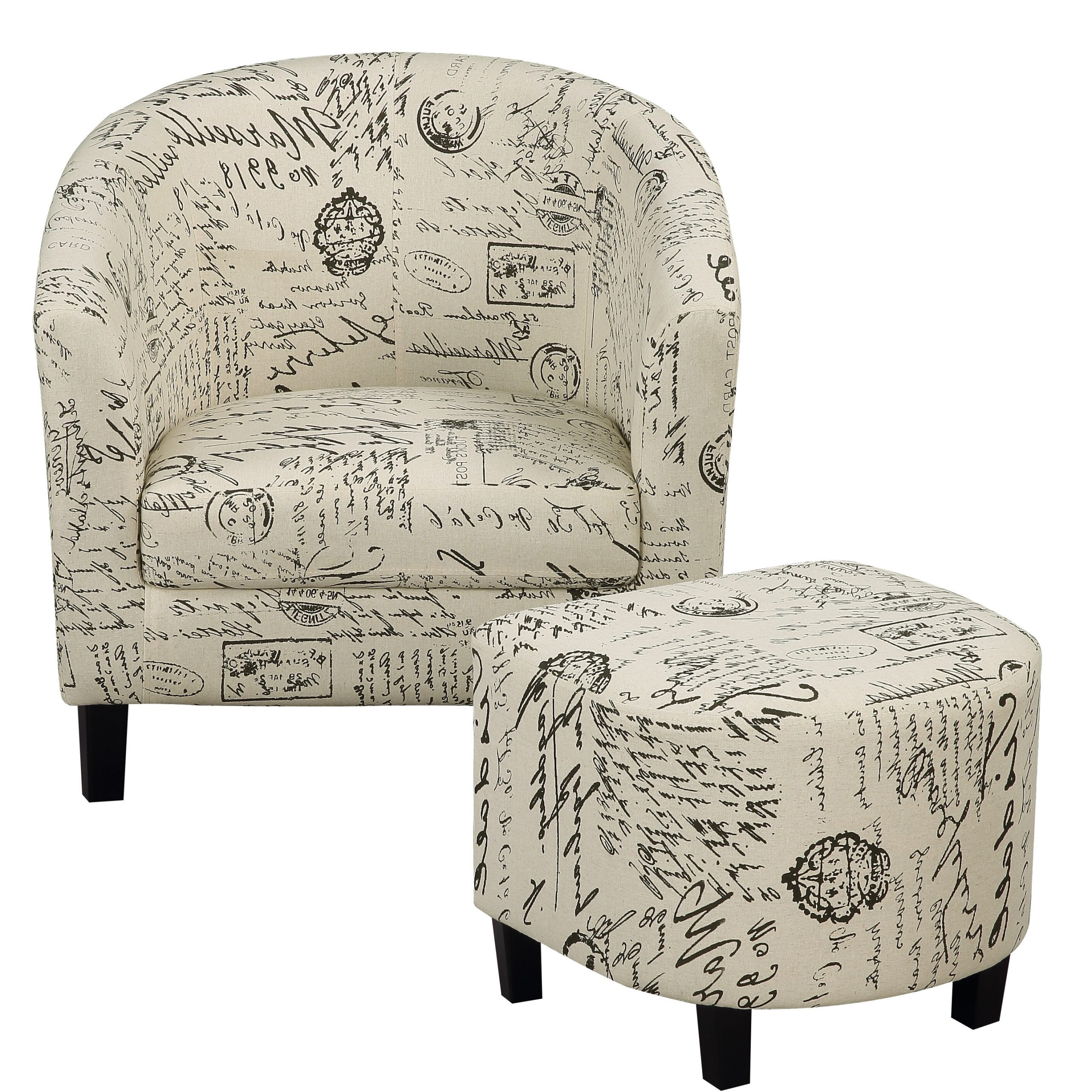 Artemi Barrel Chair And Ottoman Sets With Most Recent Naser (View 2 of 20)