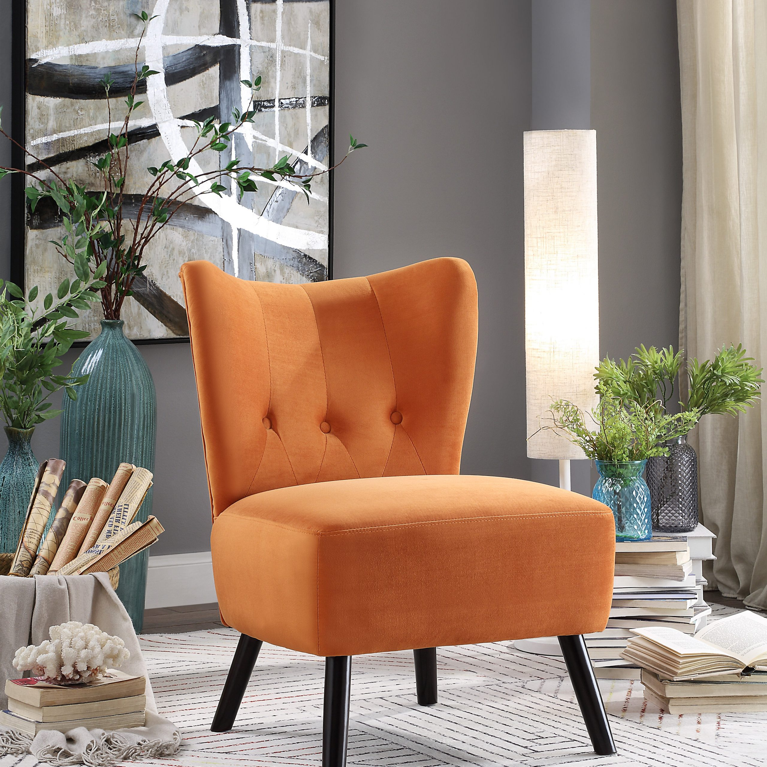 Artressia Barrel Chairs Inside Most Recent Brown Orange Accent Chairs You'll Love In (View 12 of 20)
