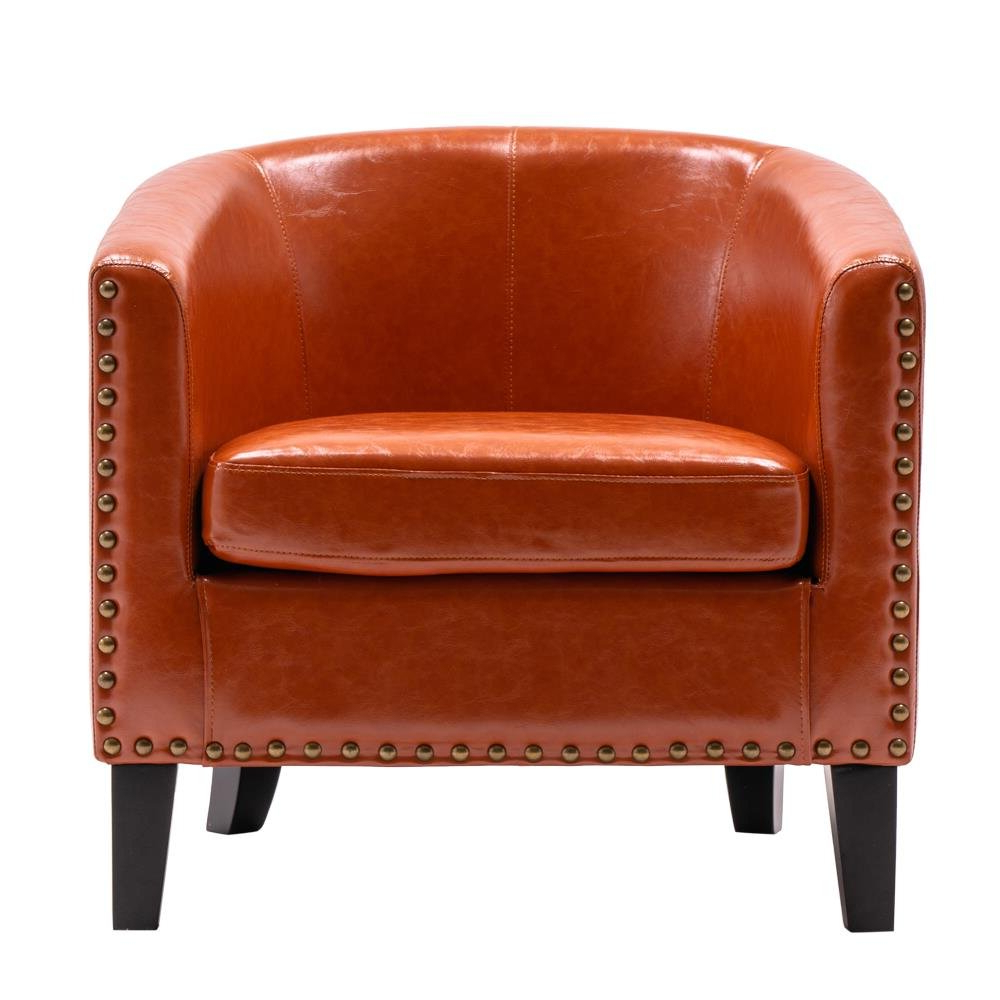 Artressia Barrel Chairs Regarding Well Known Commercial Use Orange Small Accent Chairs You'll Love In (View 2 of 20)