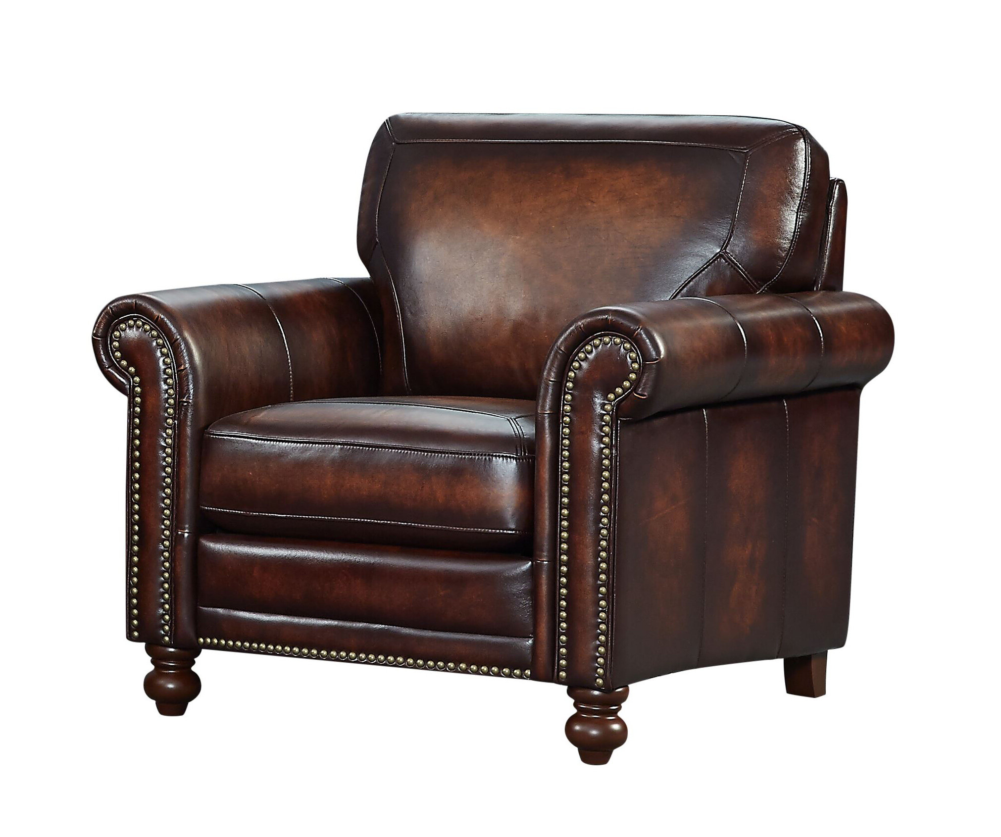 Bach Top Grain Italian Leather Club Chair Pertaining To Well Known Sheldon Tufted Top Grain Leather Club Chairs (View 6 of 20)