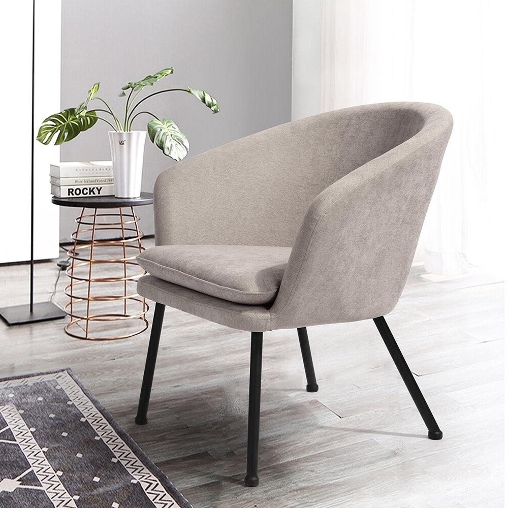 Barnard Polyester Barrel Chairs Inside Latest Barrel Beige Accent Chairs You'll Love In (View 7 of 20)