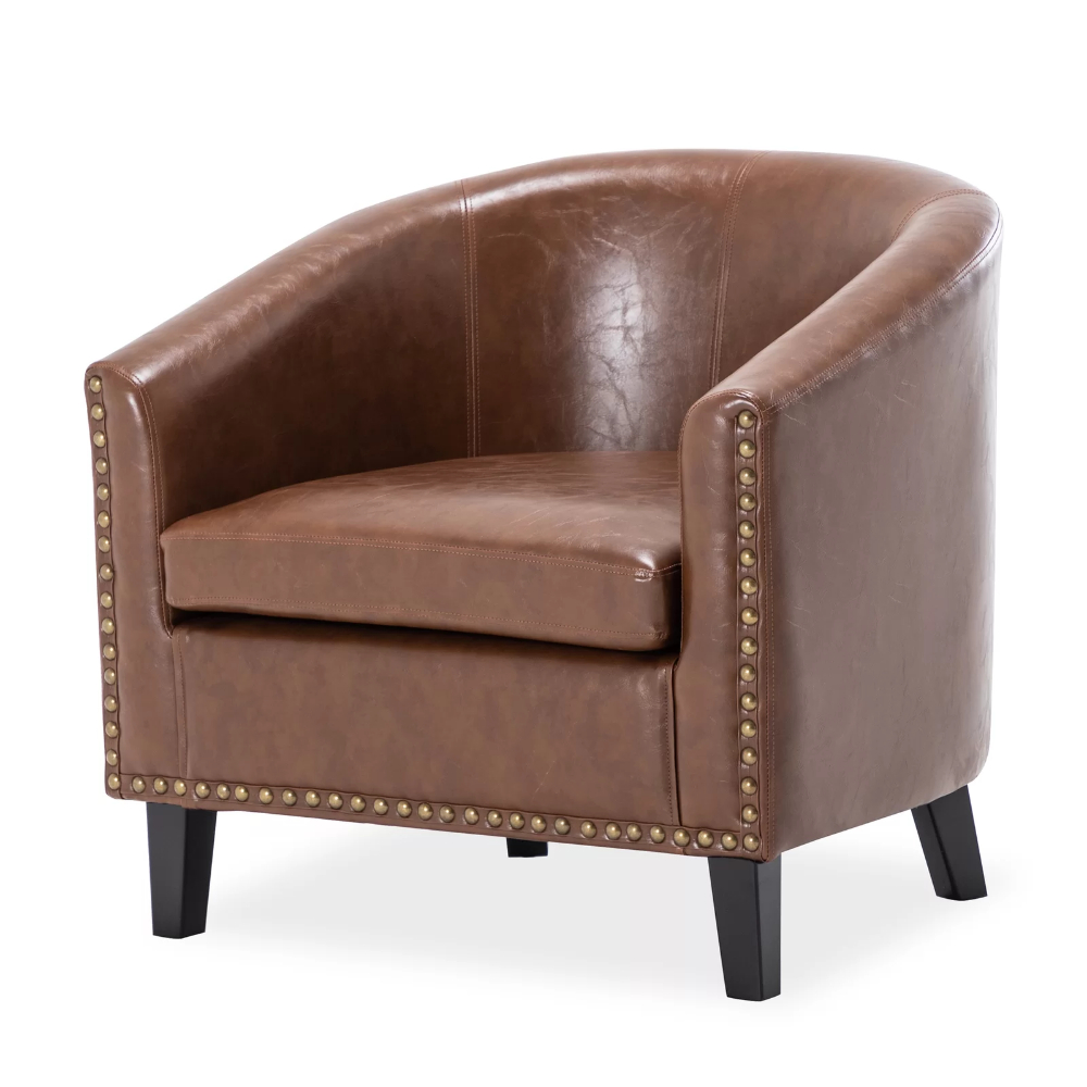 Barrel Chair, Chair, Chair For Jazouli Linen Barrel Chairs And Ottoman (View 5 of 20)