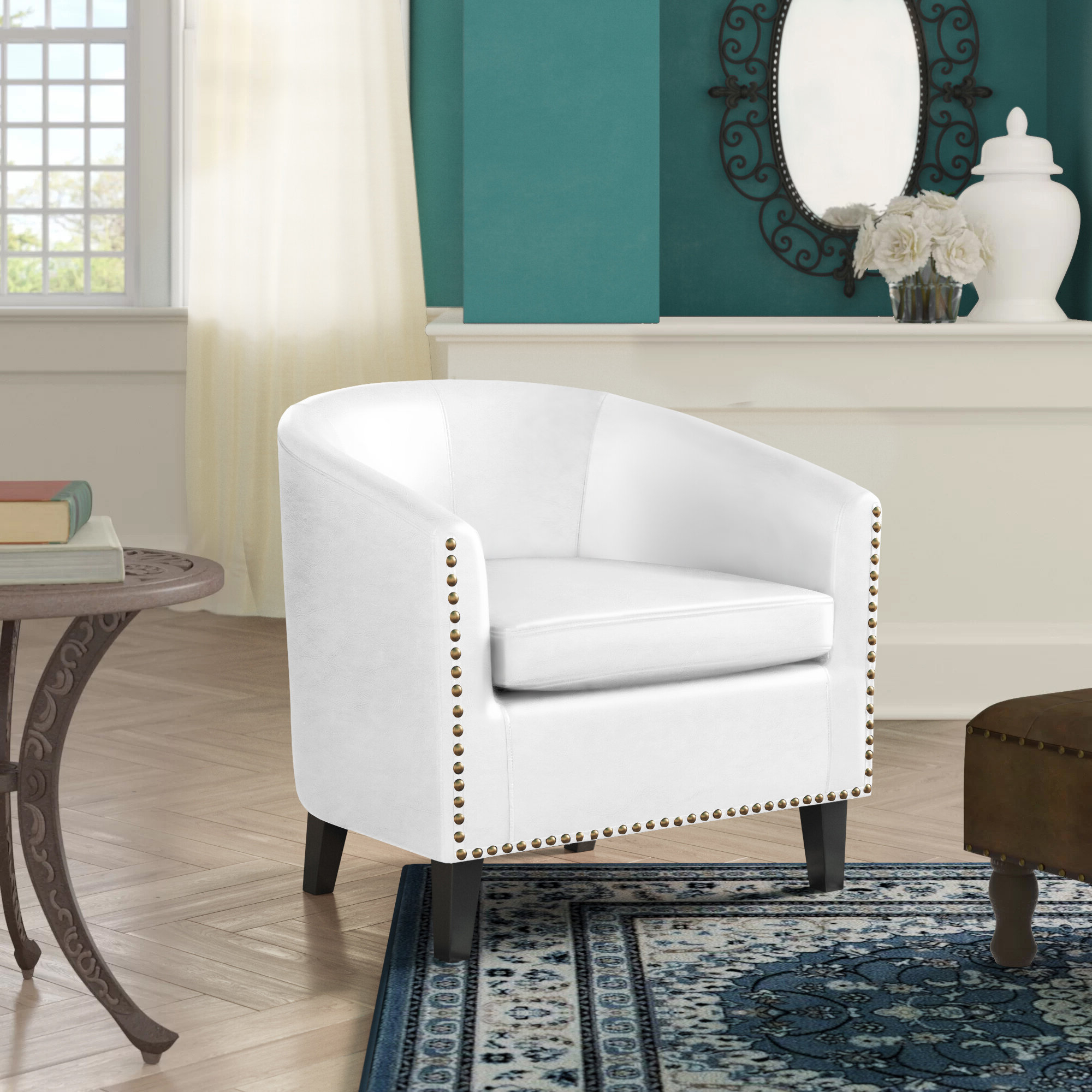 Barrel White Accent Chairs You'll Love In (View 3 of 20)
