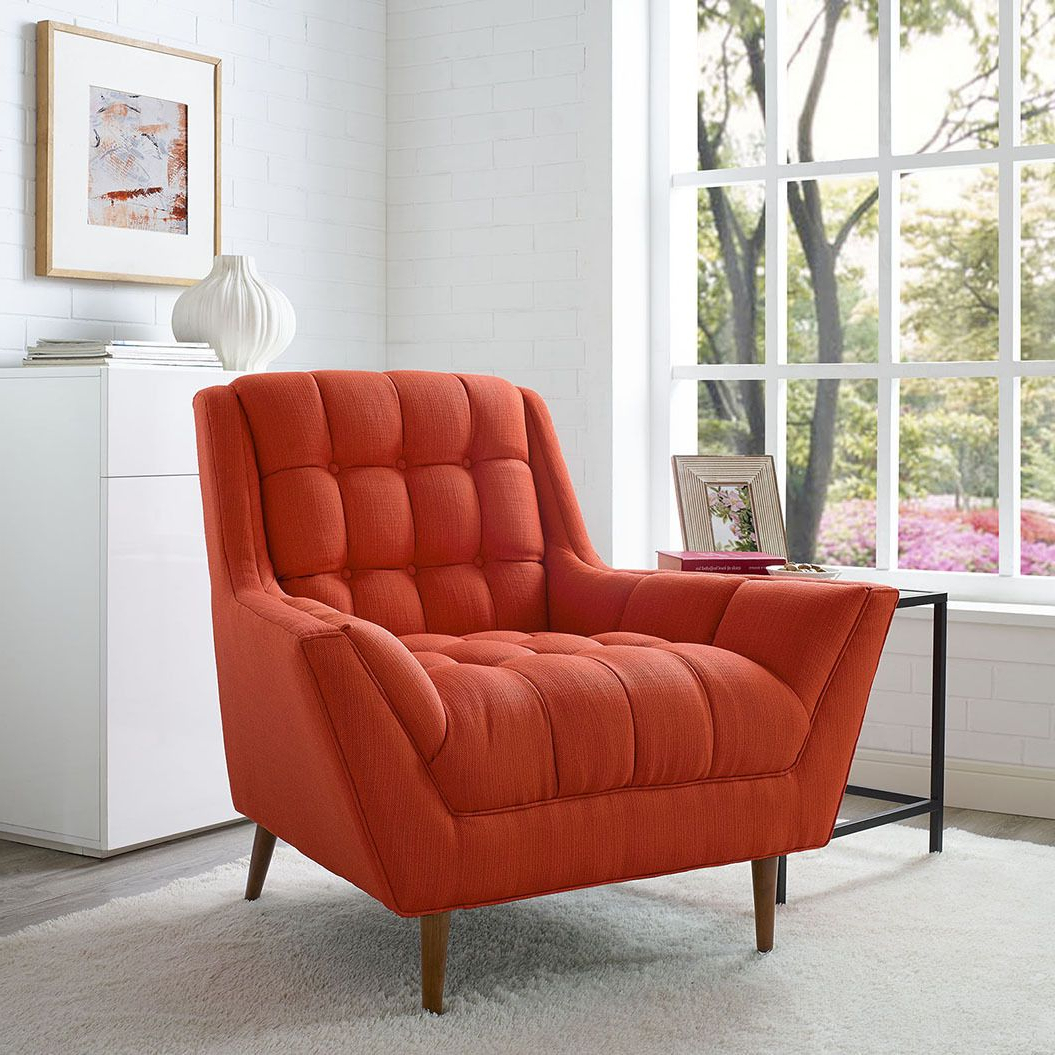Belz Tufted Polyester Armchairs In Most Popular Response Red Chair Eei 1786 Ato Modway Furniture Chairs (View 17 of 20)