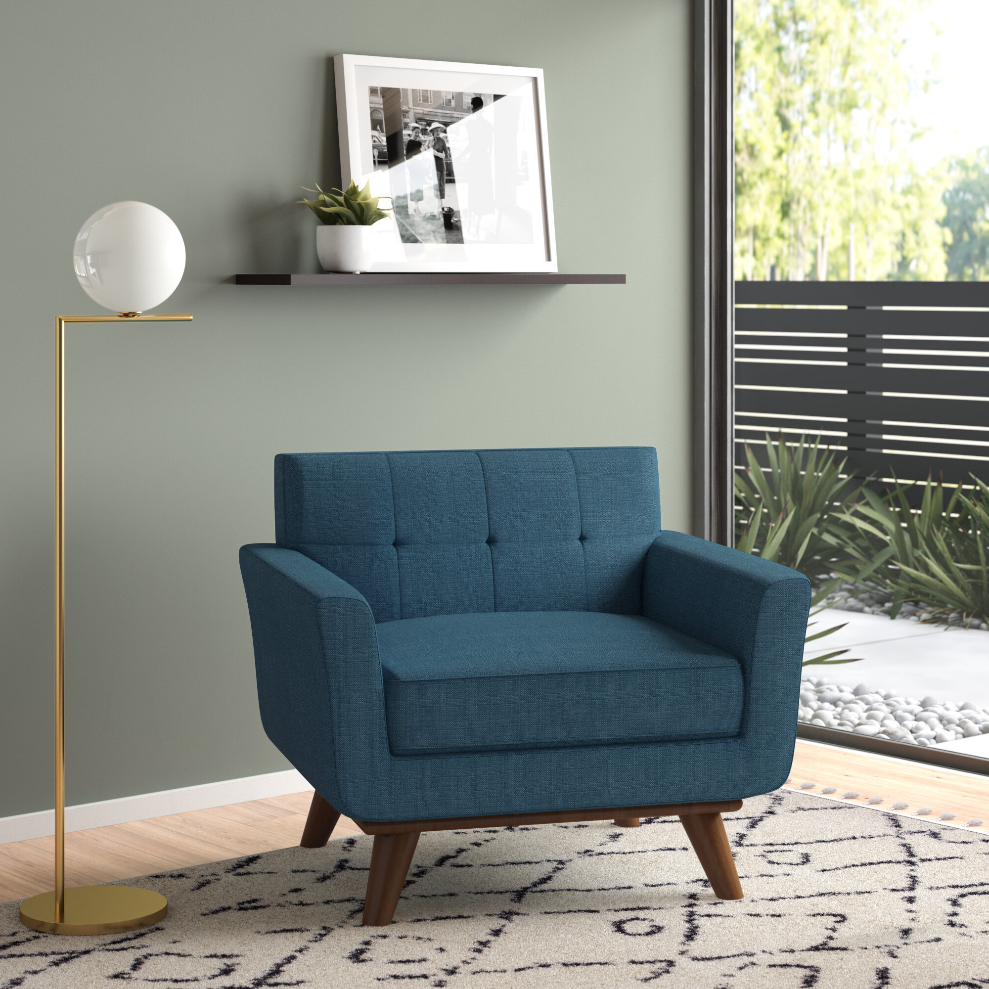 Belz Tufted Polyester Armchairs Pertaining To 2019 Abarca Armchair (View 11 of 20)
