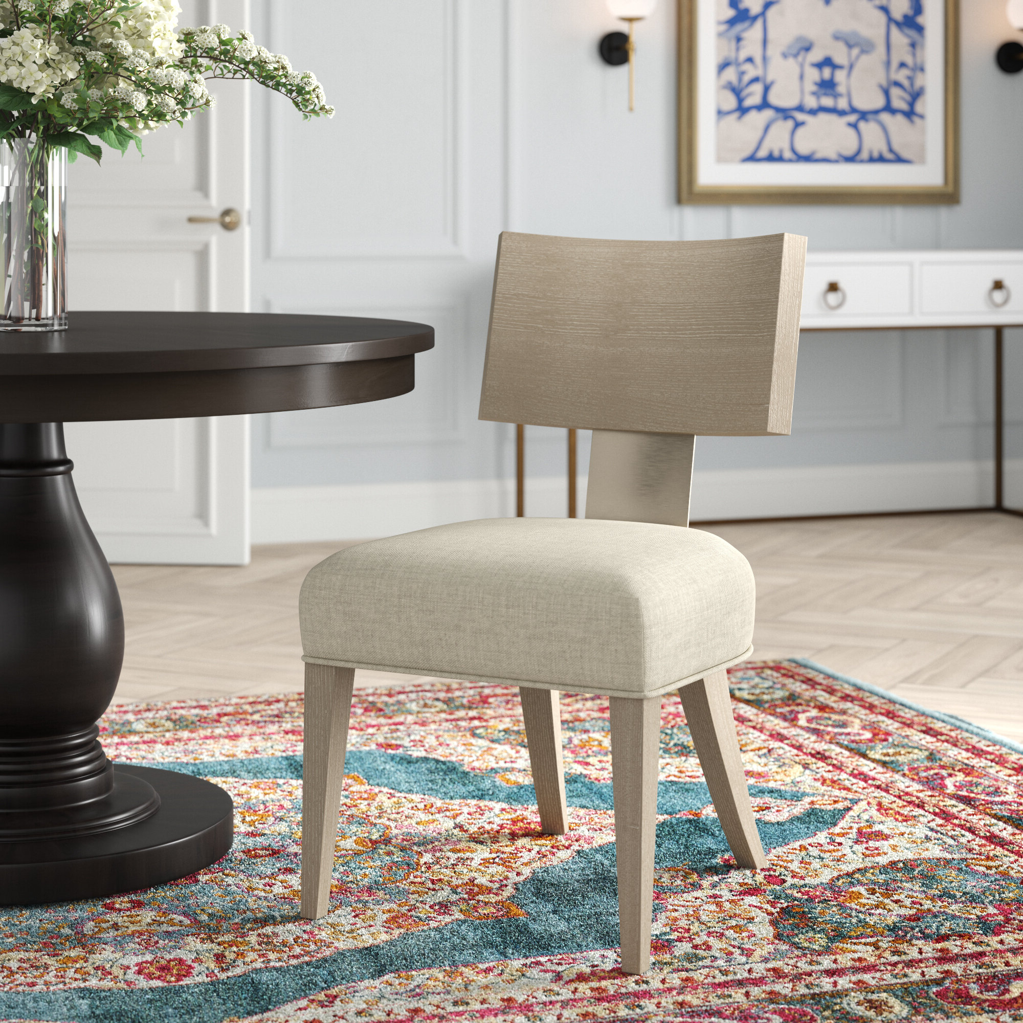 Bernhardt Mosaic Dining Chair In Most Popular Aaliyah Parsons Chairs (View 19 of 20)