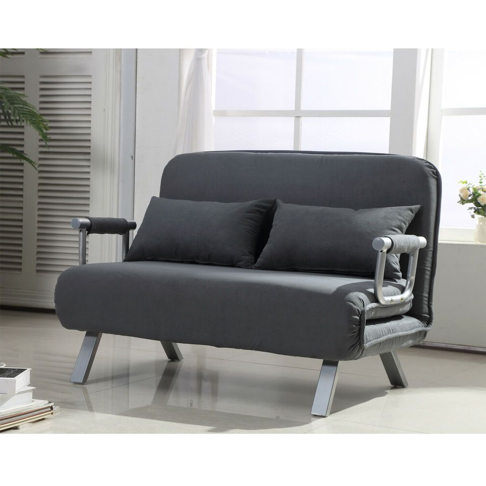 Best 82 Reference Of Folding Lounge Chair Sofa Bed Regarding 2020 Perz Tufted Faux Leather Convertible Chairs (View 16 of 20)