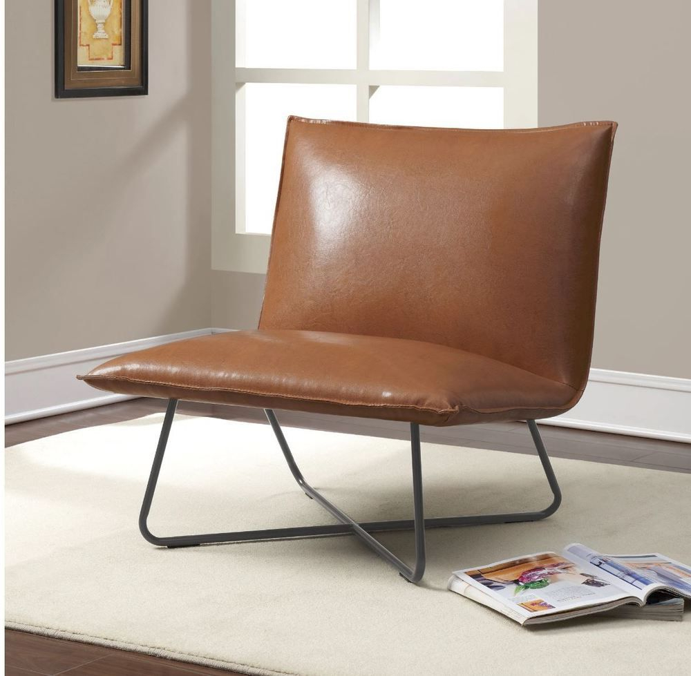 Best And Newest Broadus Genuine Leather Suede Side Chairs Pertaining To Accent Chairs For Living Room Modern Lounge Indoor Saddle (View 7 of 20)