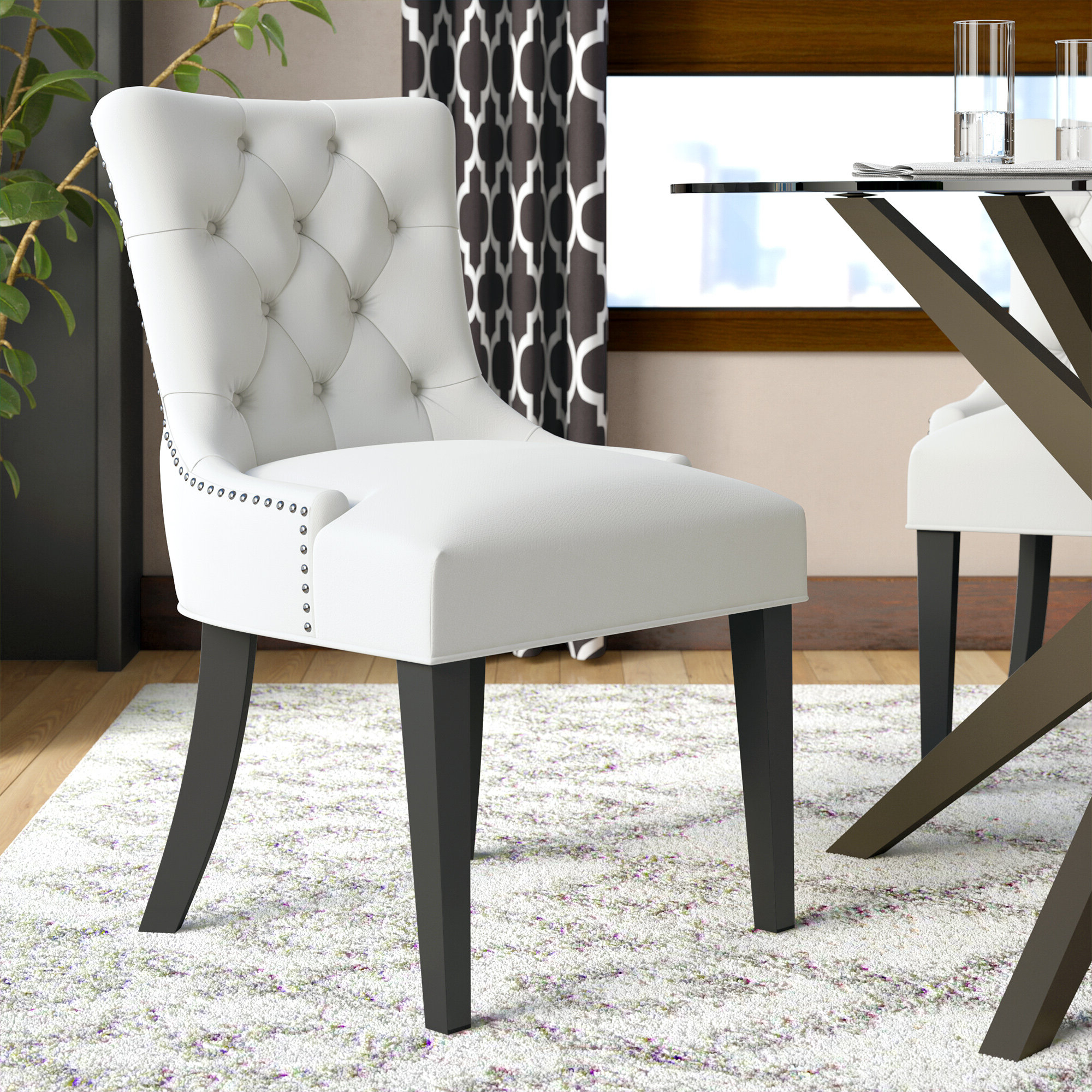 Best And Newest Carlton Tufted Upholstered Dining Chair Intended For Carlton Wood Leg Upholstered Dining Chairs (View 6 of 20)