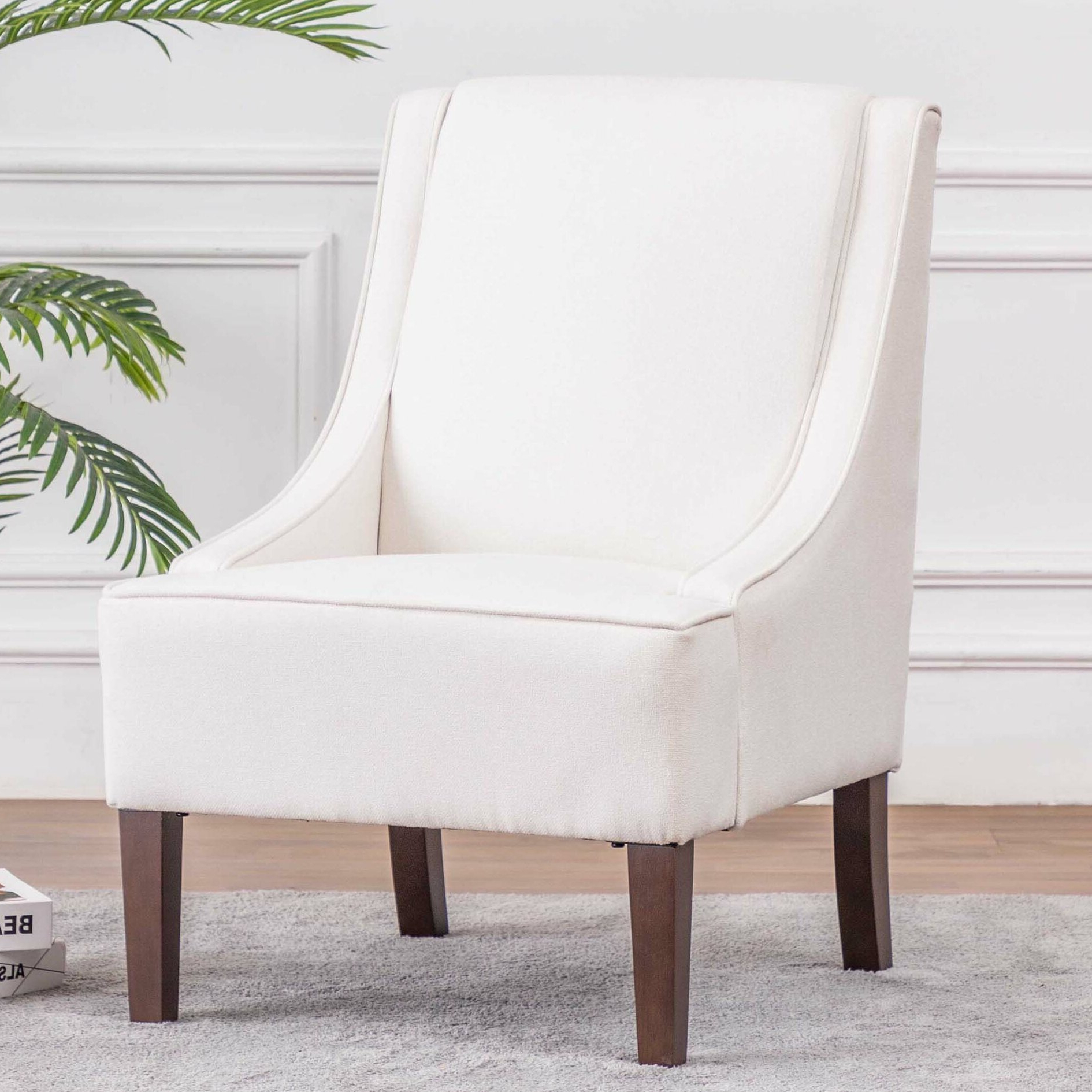 Best And Newest Chiles Linen Side Chairs Inside Side Accent Chairs You'll Love In (View 8 of 20)