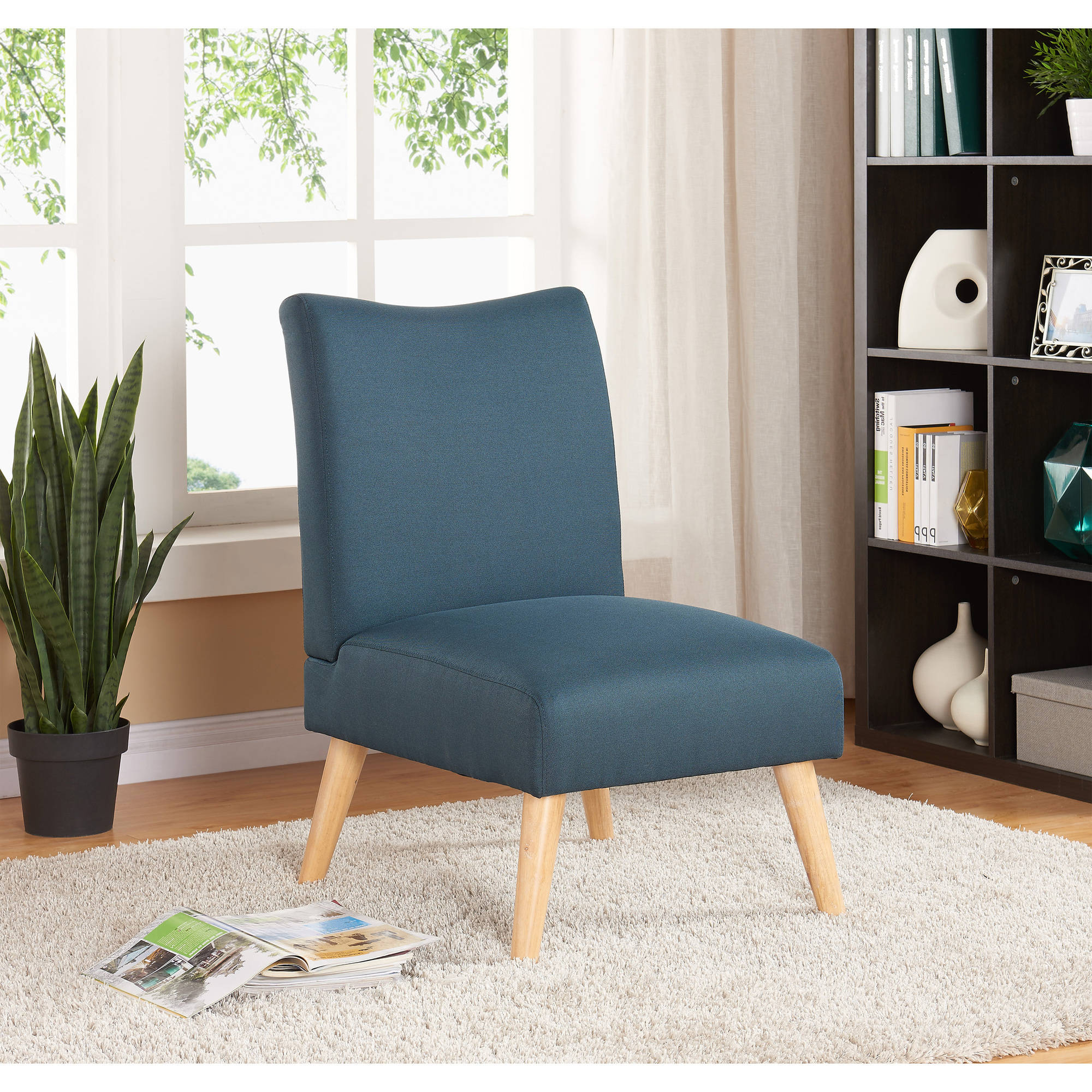 Best And Newest Mainstays Solid Armless Slipper Chair, Multiple Colors Within Goodyear Slipper Chairs (View 2 of 20)