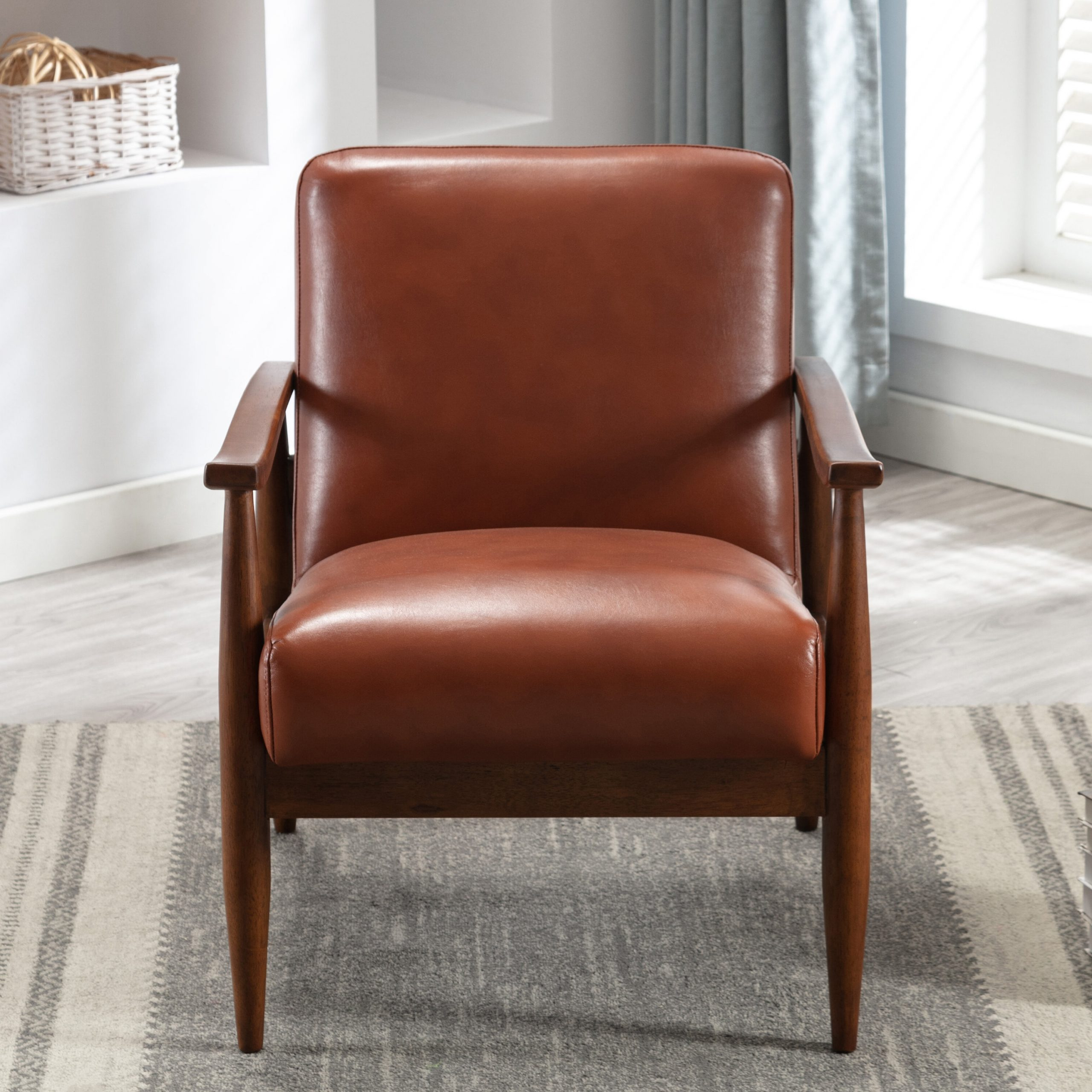 Best And Newest Marisa Faux Leather Wingback Chairs Intended For Faux Leather George Oliver Accent Chairs You'll Love In (View 5 of 20)