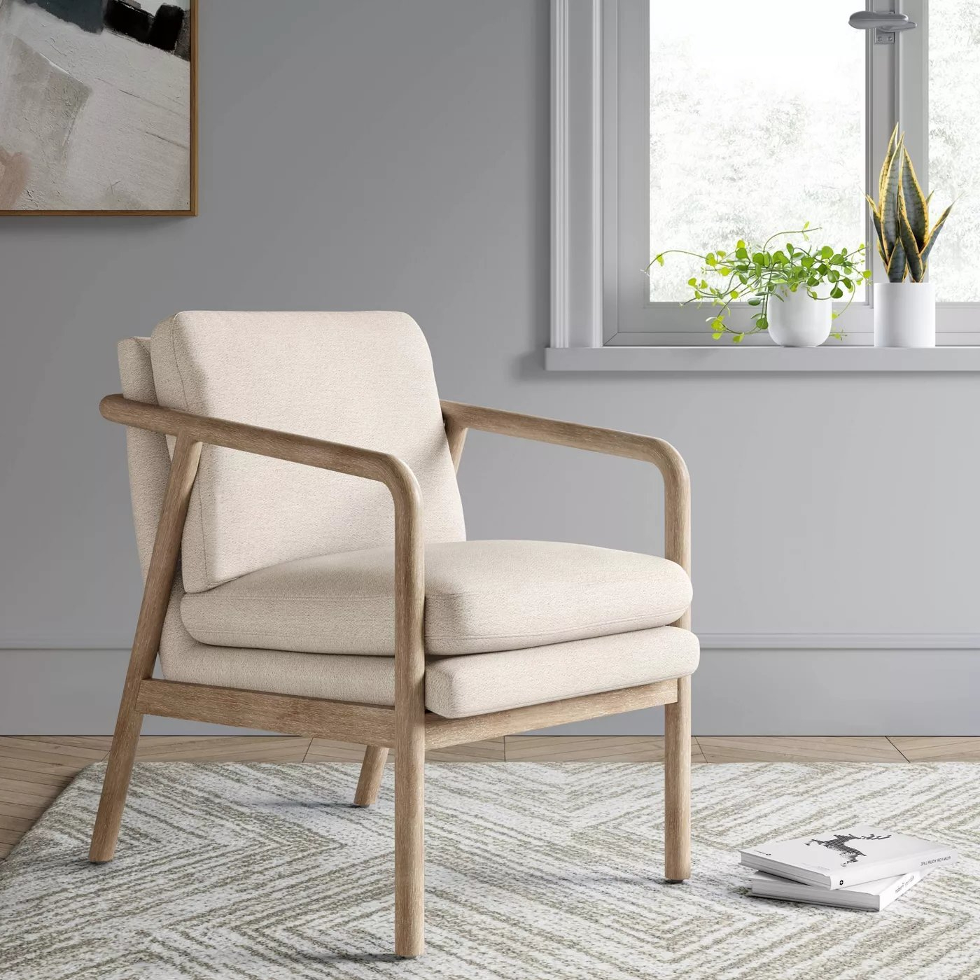 Best And Newest Tufeld Wood Arm Chair Gray – Project 62™ – Target Intended For Biggerstaff Polyester Blend Armchairs (View 20 of 20)