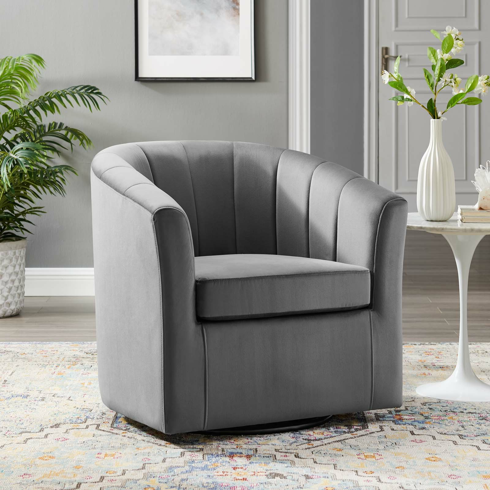 Best And Newest Ziaa Barrel Chairs Intended For Ziaa Performance Velvet Swivel Barrel Chair (View 5 of 20)