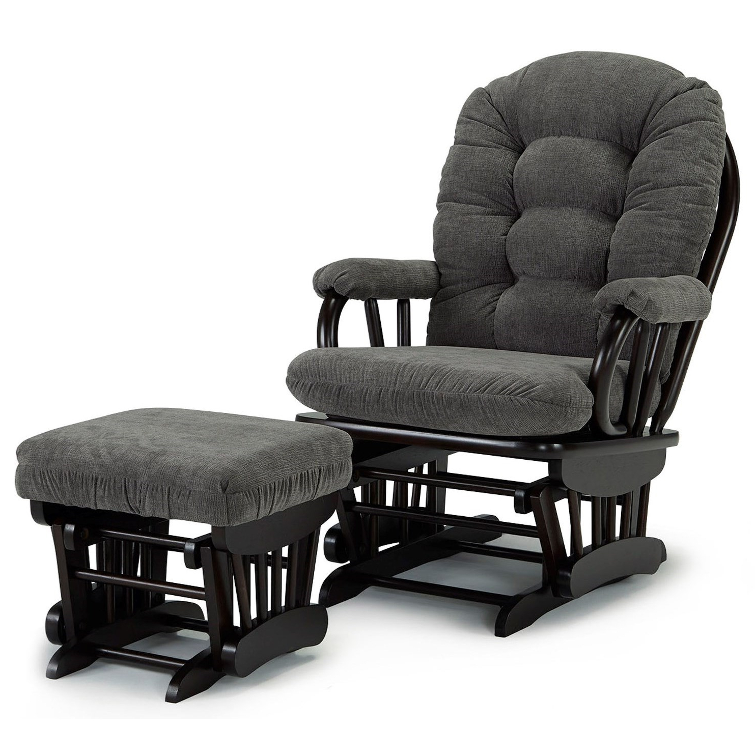 Best Home Furnishings Sona C4137+c0030 21523c Glider Chair Regarding Preferred Artemi Barrel Chair And Ottoman Sets (View 14 of 20)