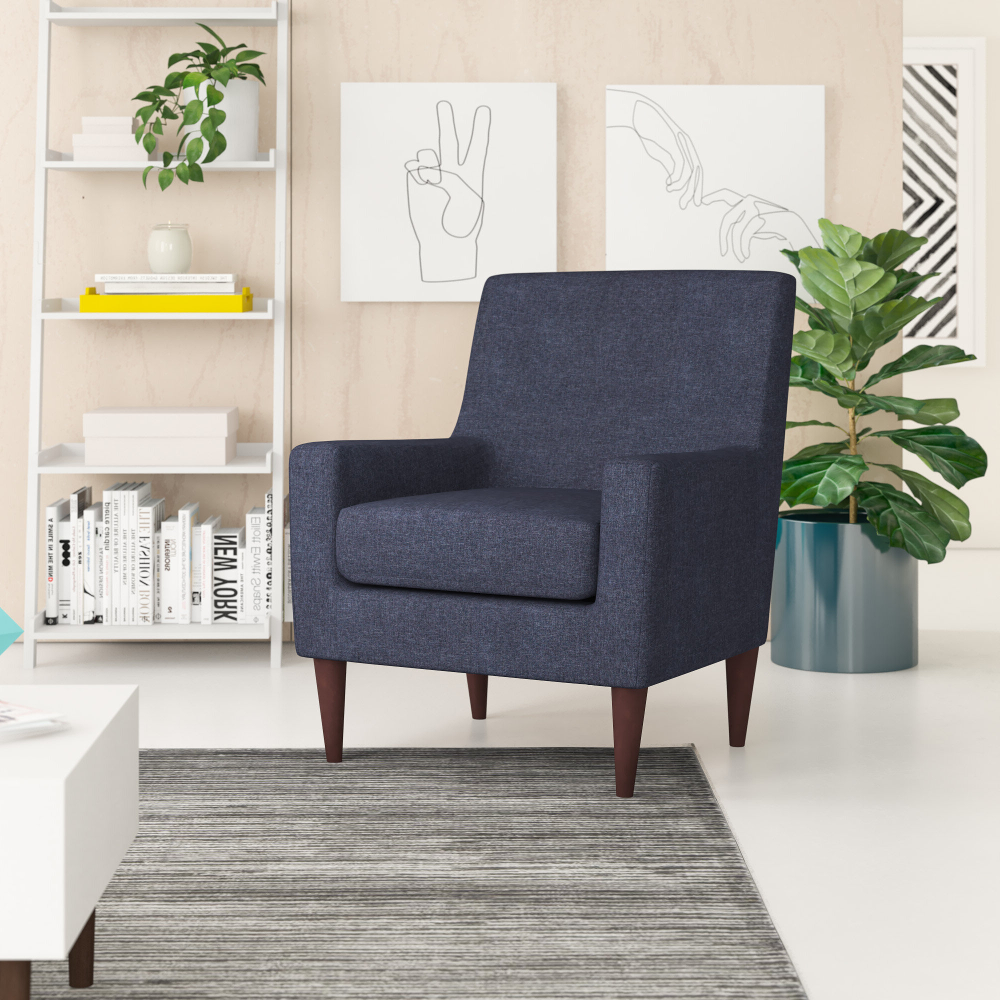 Bethine Polyester Armchairs (set Of 2) In Preferred Polyester & Polyester Blend Accent Chairs You'll Love In (View 4 of 20)