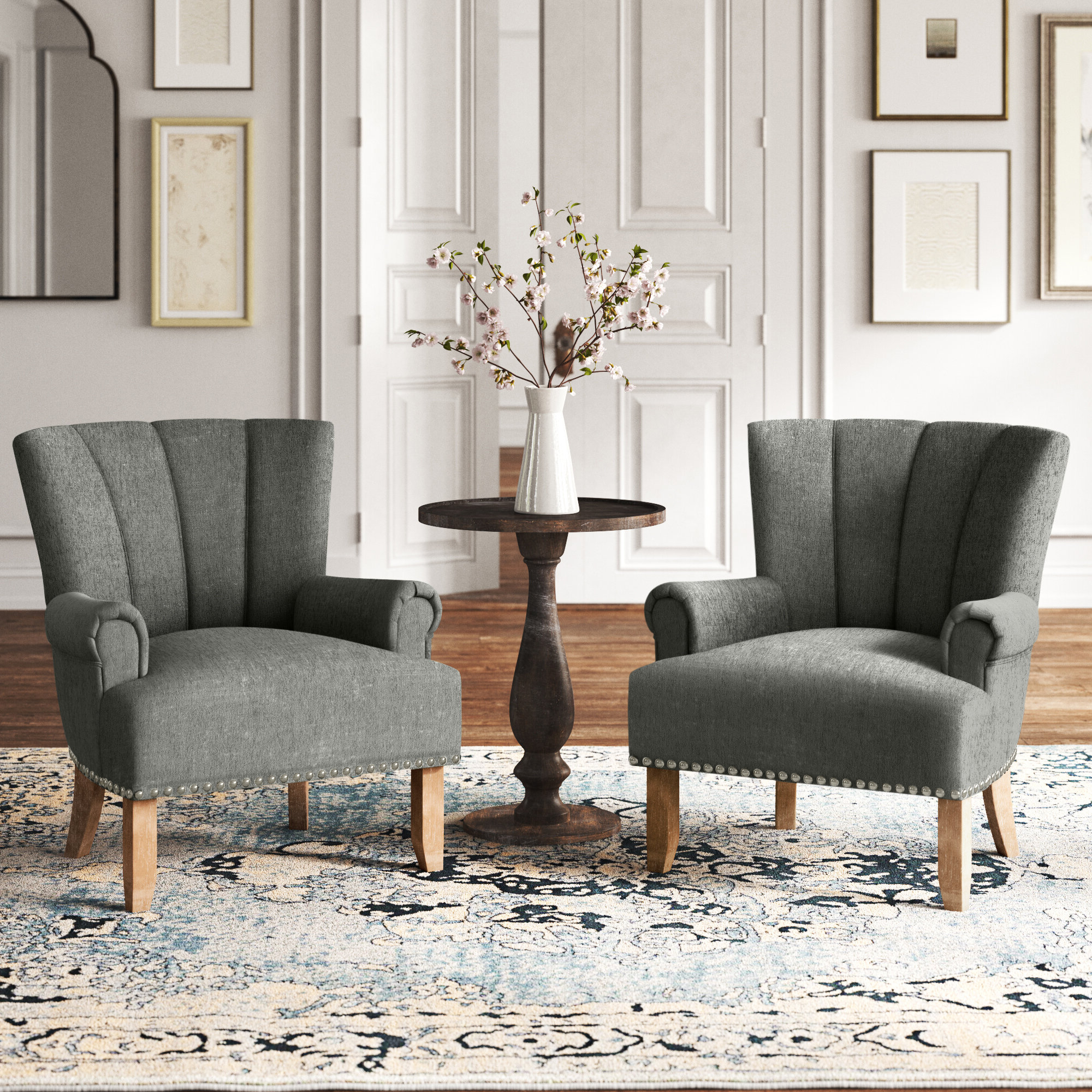 Bethine Polyester Armchairs (set Of 2) In Well Known White Accent Chairs You'll Love In (View 3 of 20)