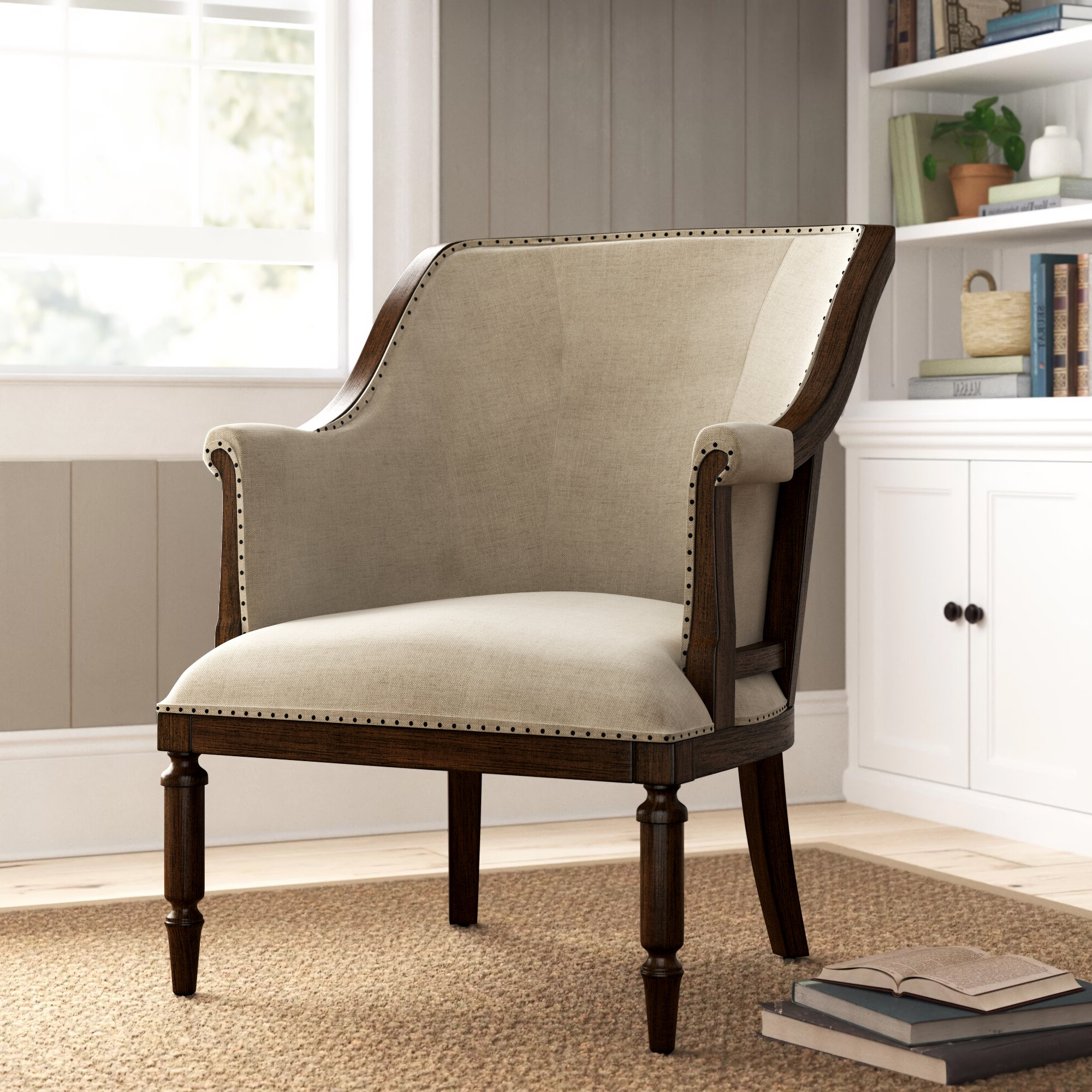 Birch Lane™ Cohasset Armchair Inside Recent Altamahaw Swoop Side Chairs (View 10 of 20)