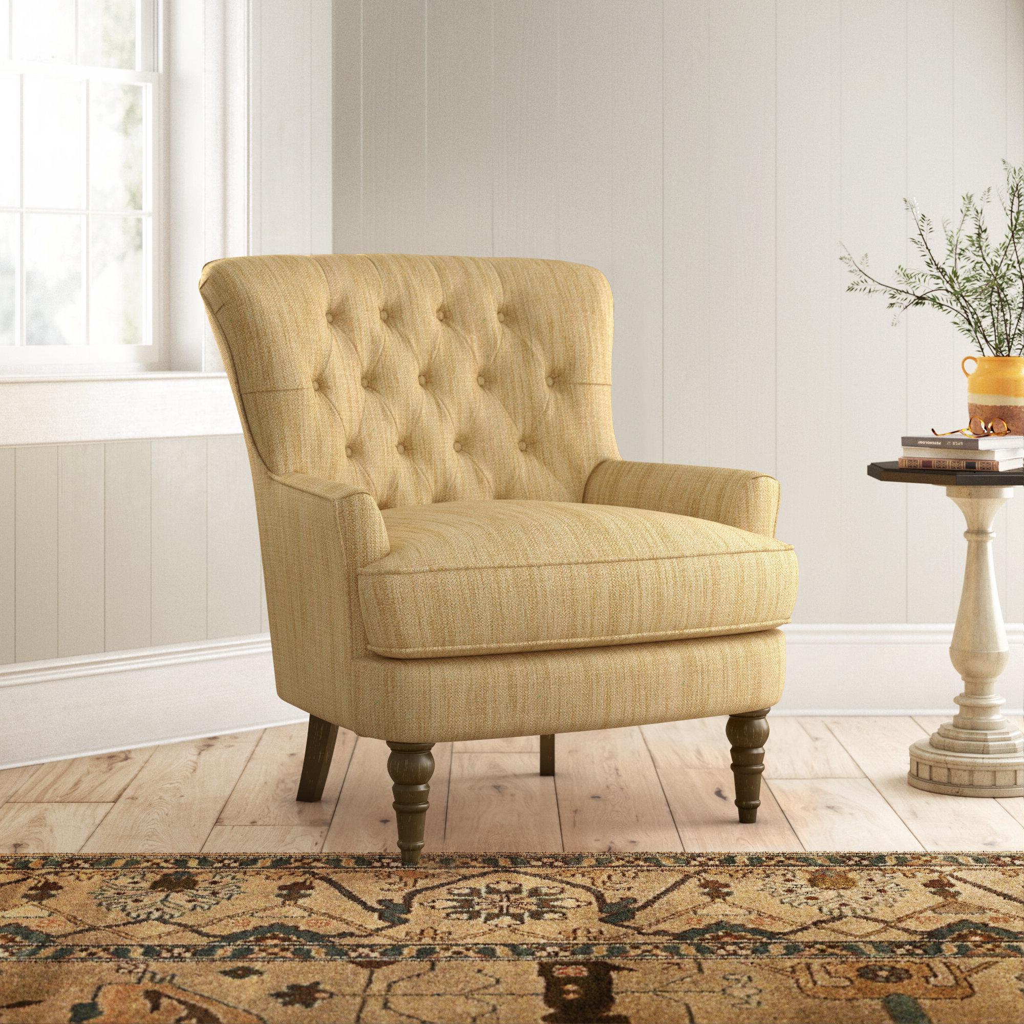 Birch Lane Pertaining To Popular Galesville Tufted Polyester Wingback Chairs (View 9 of 20)