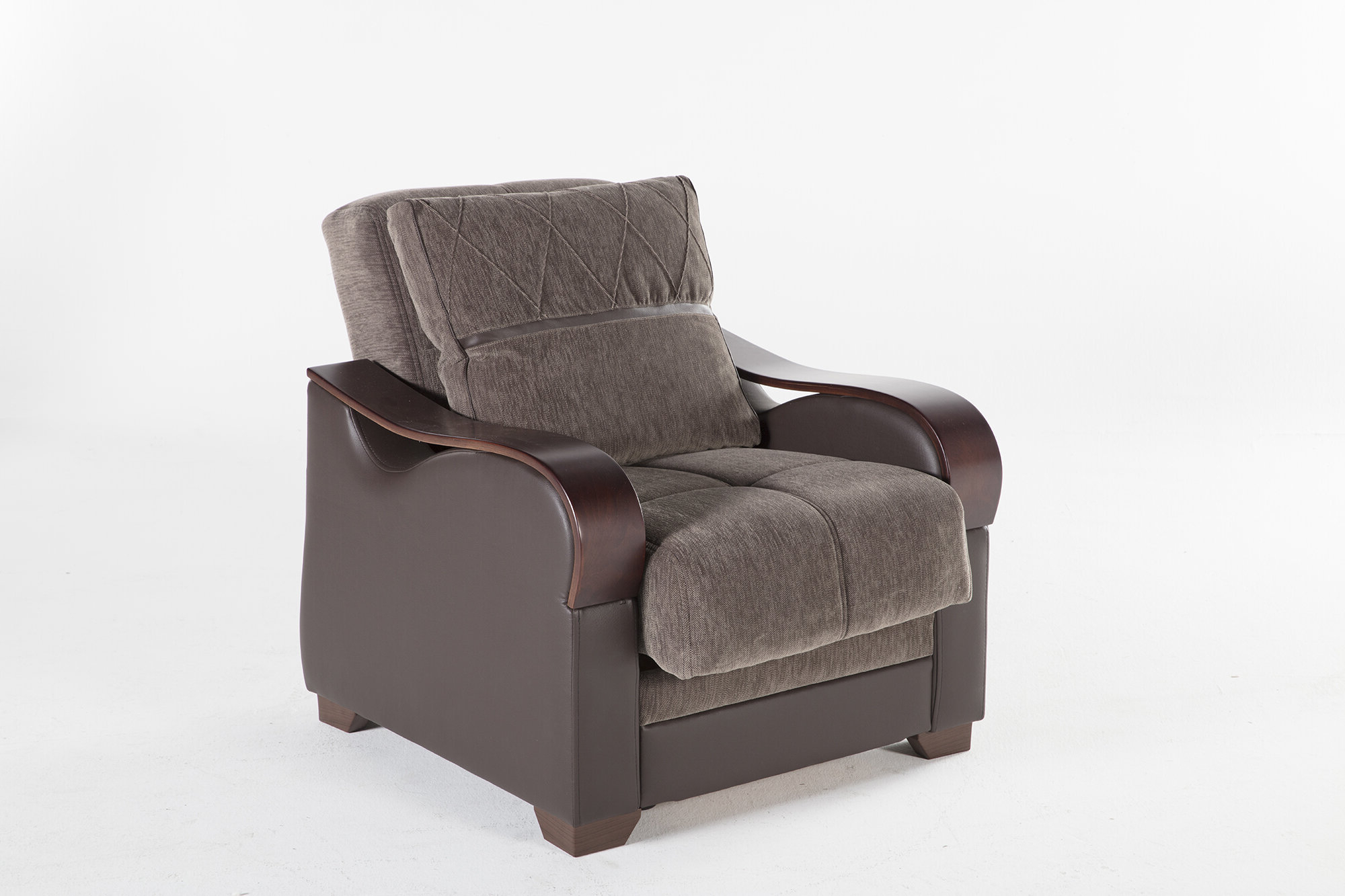 Blaithin Simple Single Barrel Chairs For Popular Dougie Convertible Chair (View 13 of 20)