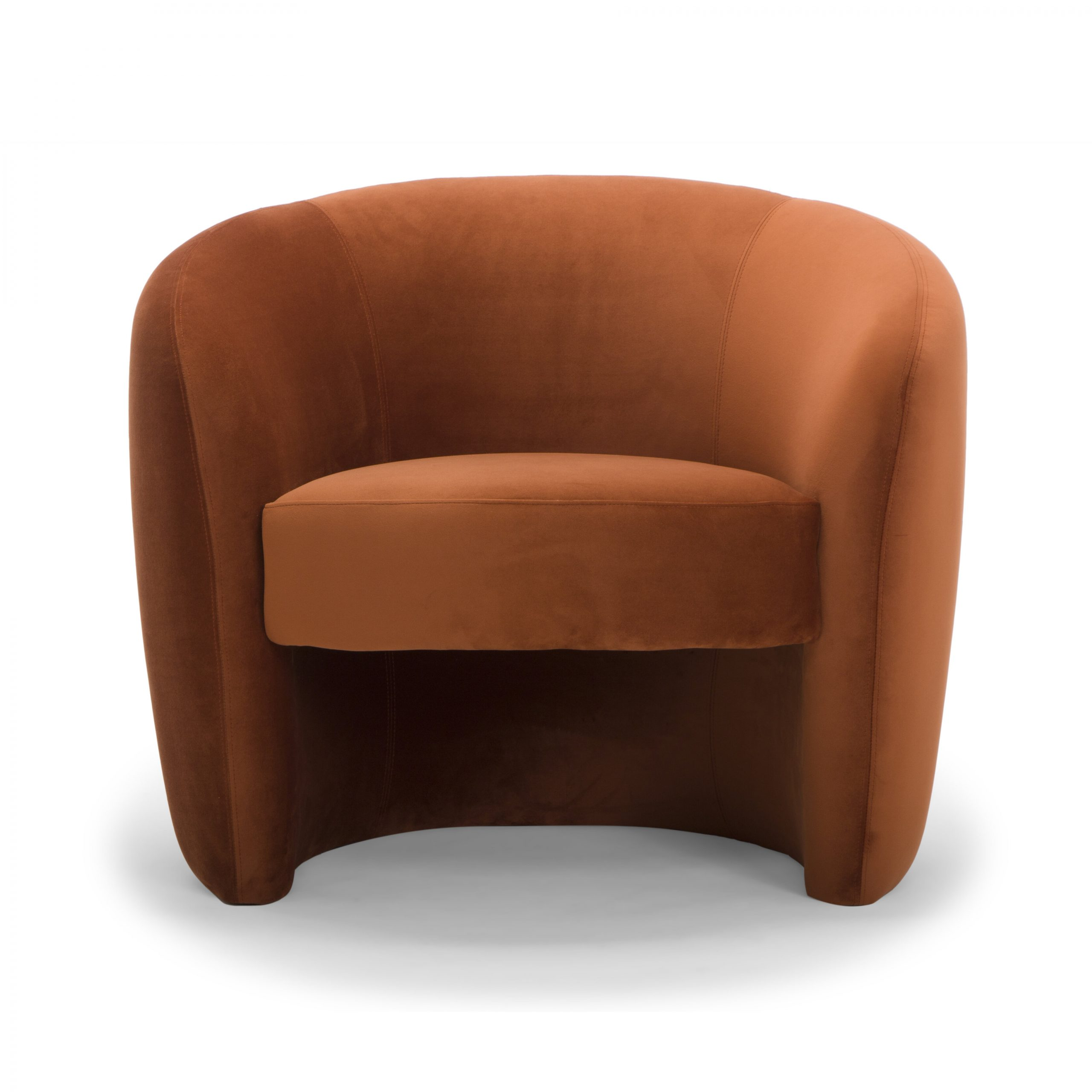 Blaithin Simple Single Barrel Chairs In Trendy Barrel Brown Accent Chairs You'll Love In (View 2 of 20)