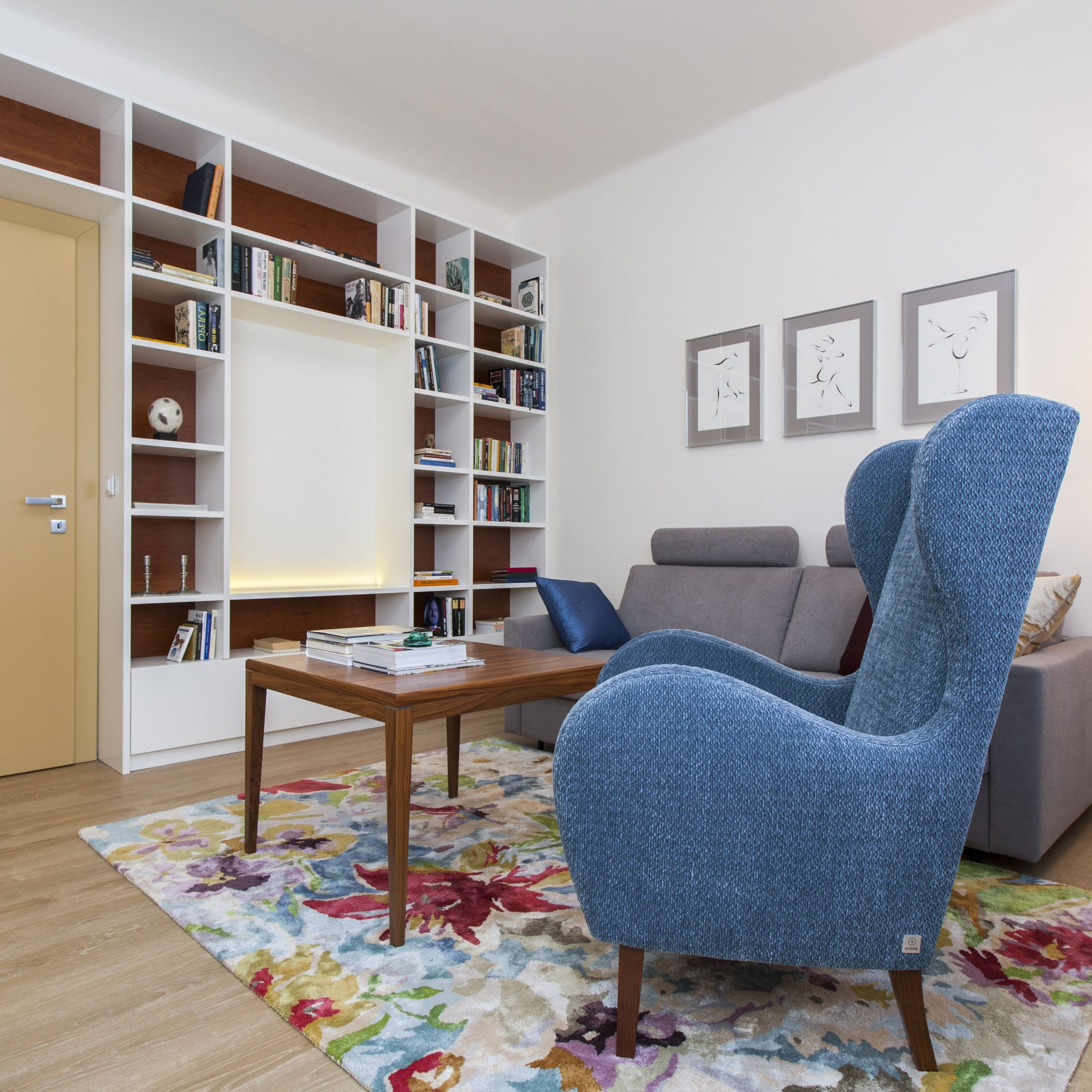 Blue Armchair, Home Decor, Chairs Armchairs Pertaining To Well Liked Popel Armchairs (View 17 of 20)