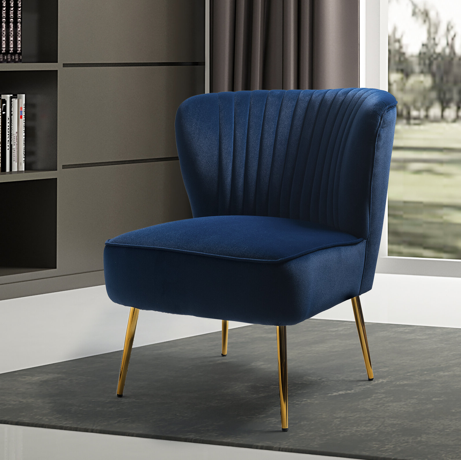 Blue Velvet Accent Chairs You'll Love In (View 19 of 20)