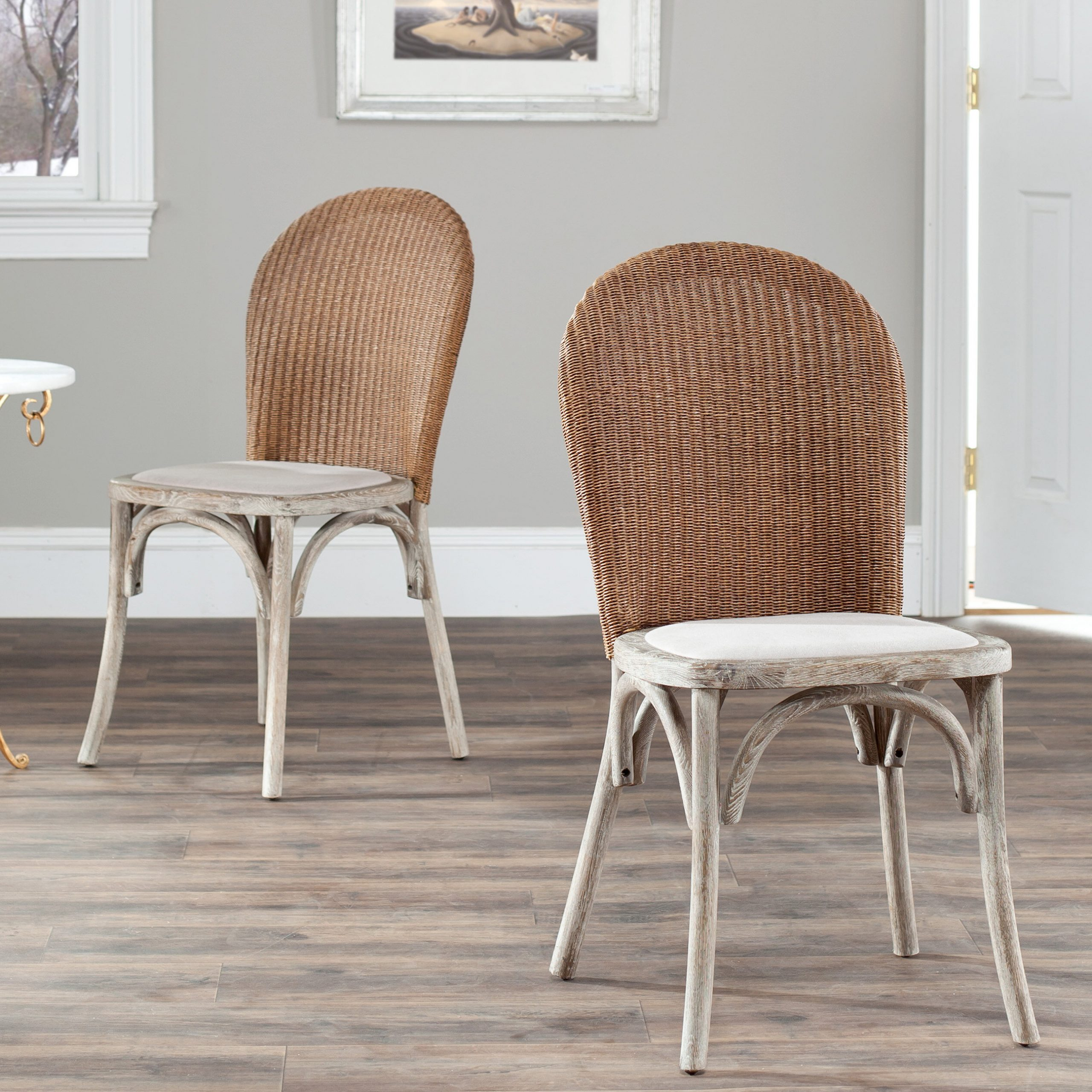 Bob Stripe Upholstered Dining Chairs (set Of 2) Throughout Most Current Coastal Dining Chairs (View 14 of 20)