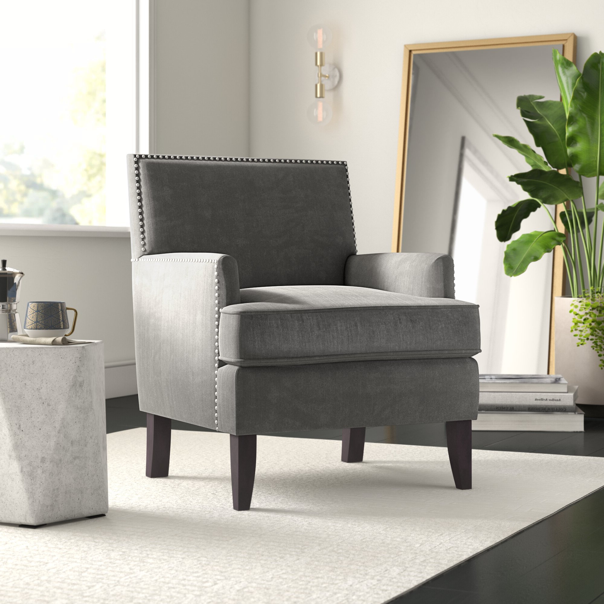 """Borst 29"""" Armchair For Best And Newest Hanner Polyester Armchairs (View 11 of 20)"""