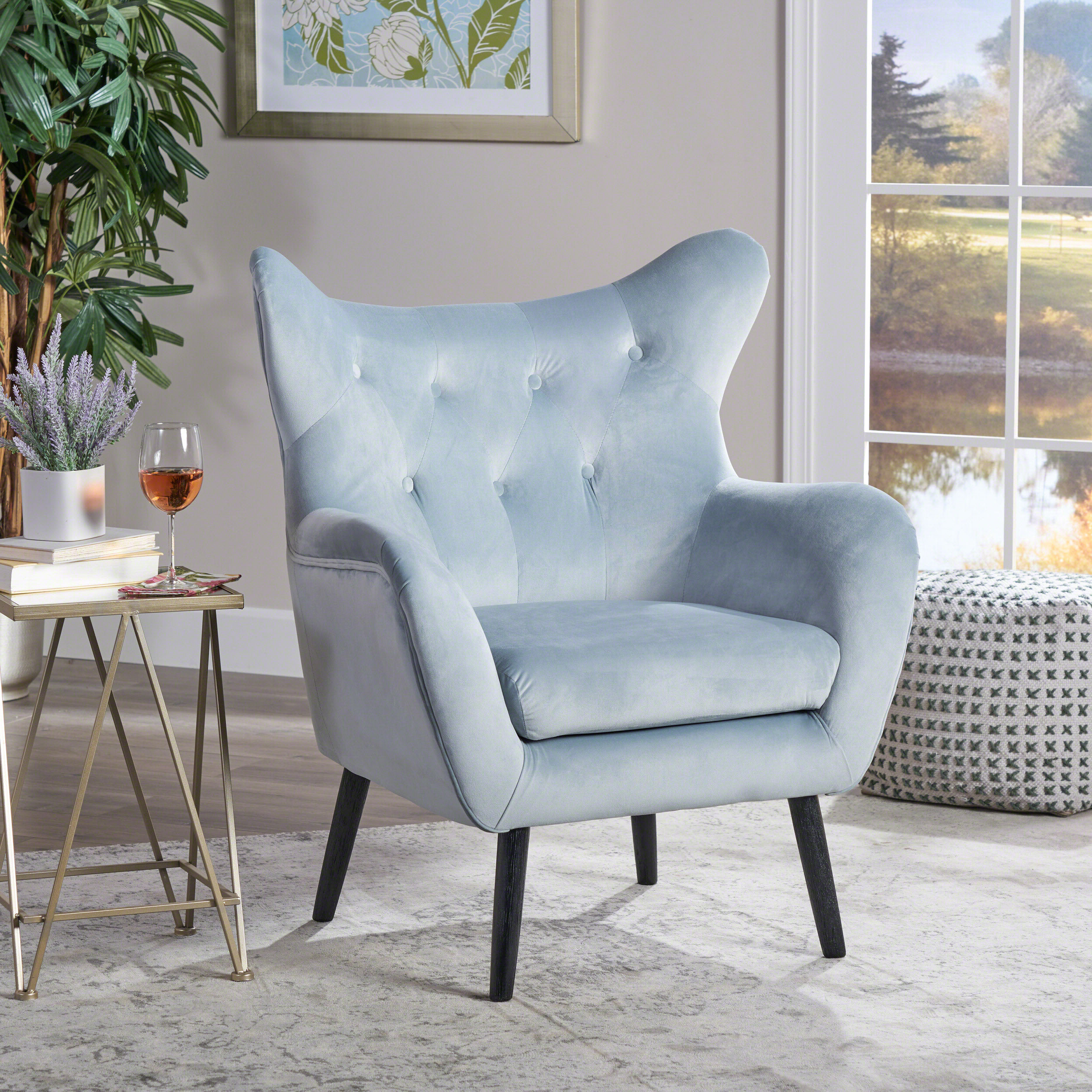 Bouck Wingback Chairs For Popular Colletta 21'' Wingback Chair (View 3 of 20)