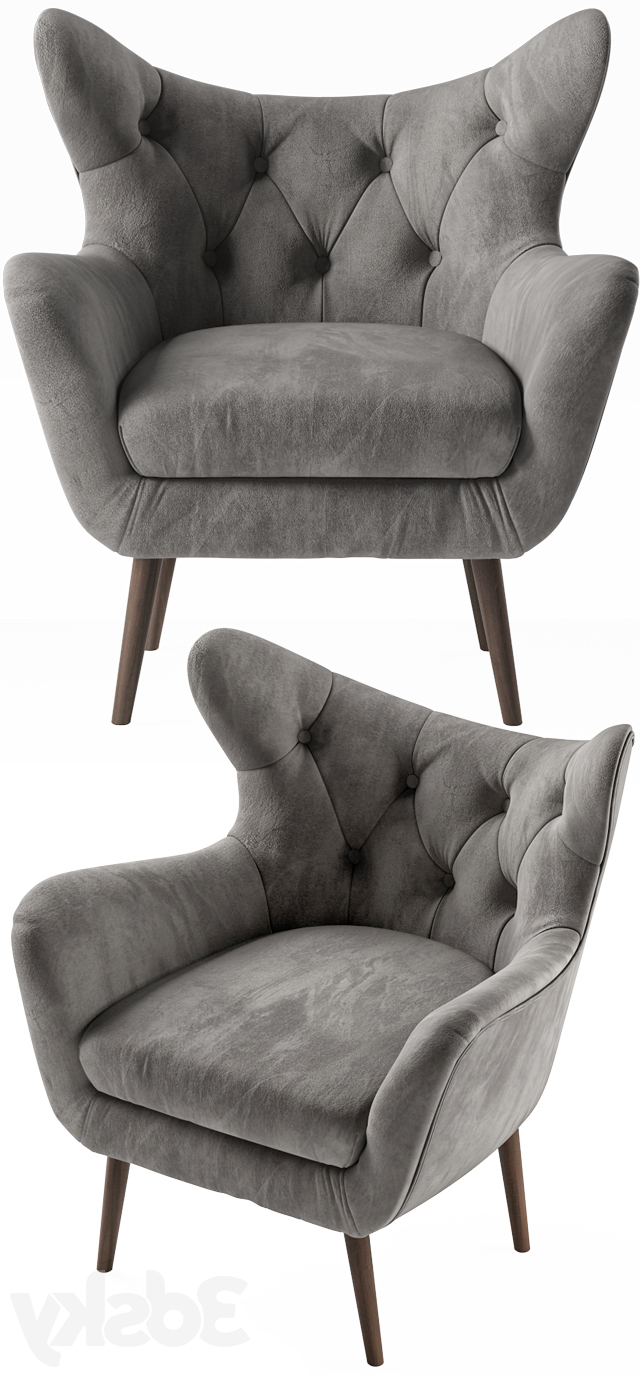 Bouck Wingback Chairs With Regard To Well Known 3d Models: Arm Chair – Bouck Wingback Chair (View 10 of 20)