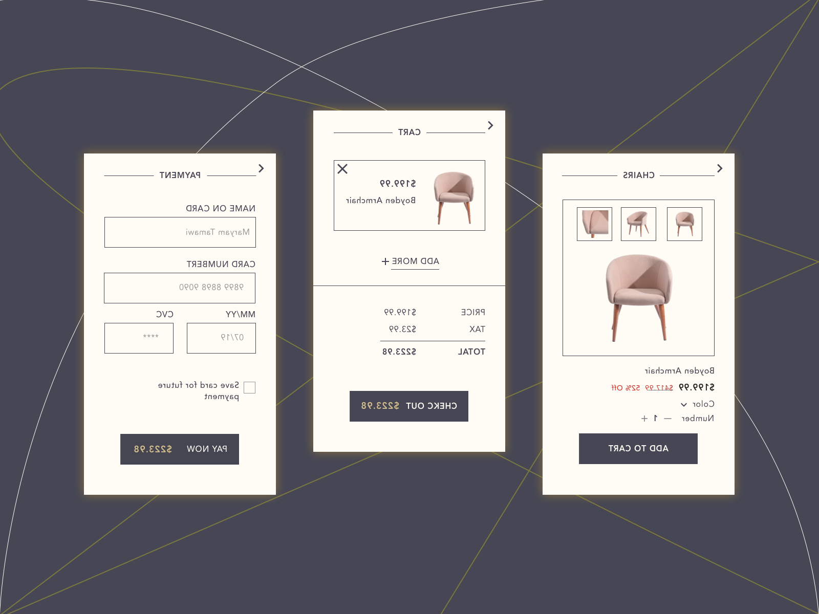 Boyden Armchairs For Latest Daily Ui 002maryam Tamawi On Dribbble (View 14 of 20)
