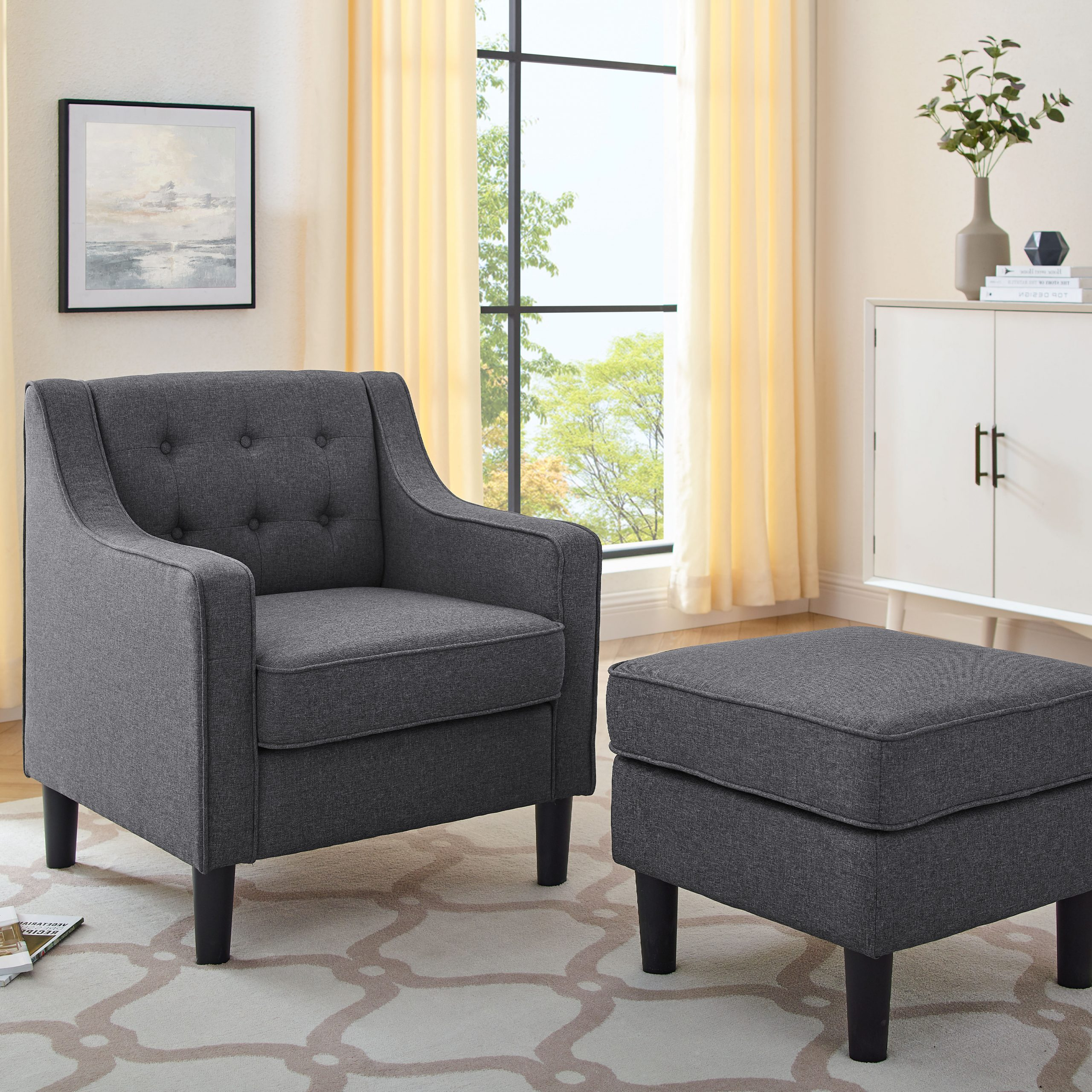 Briseno Barrel Chairs Intended For Latest Fieldbrook Armchair And Ottoman (View 20 of 20)