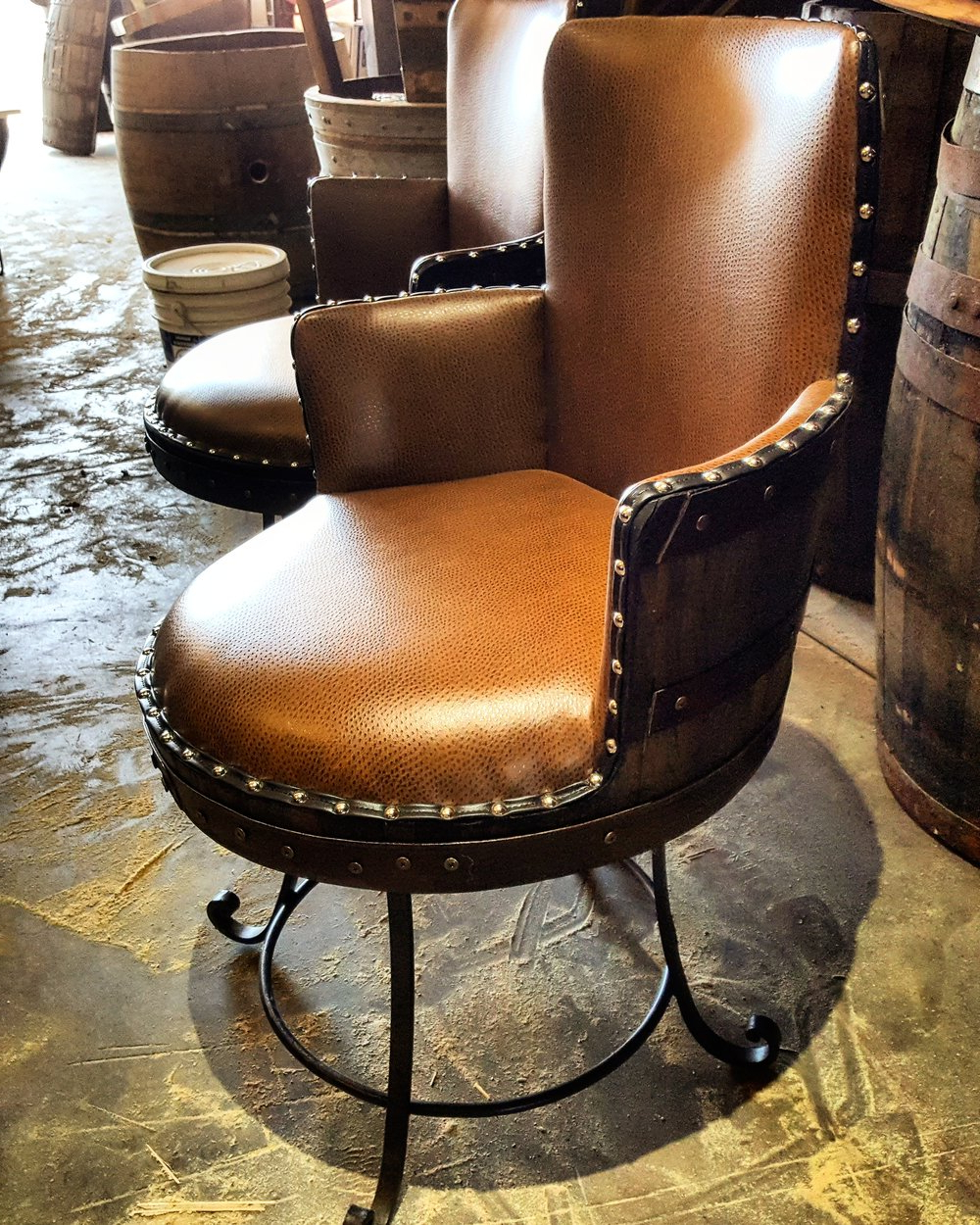 Briseno Barrel Chairs Regarding Well Liked Take Home A Piece Of Wine Country With King Barrel Of Old (View 7 of 20)